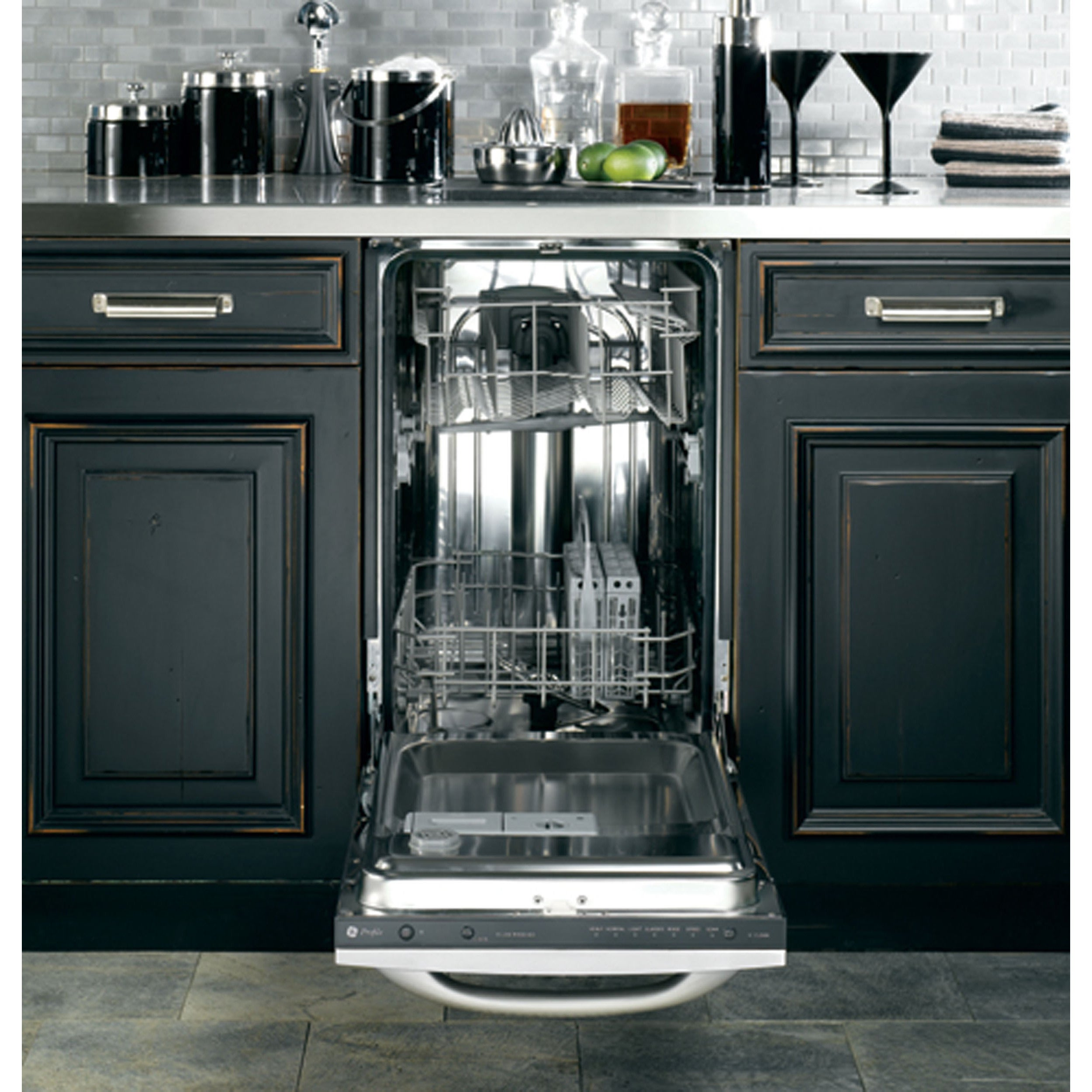 Shop Ge Stainless Steel 18 Inch Fully Integrated Dishwasher