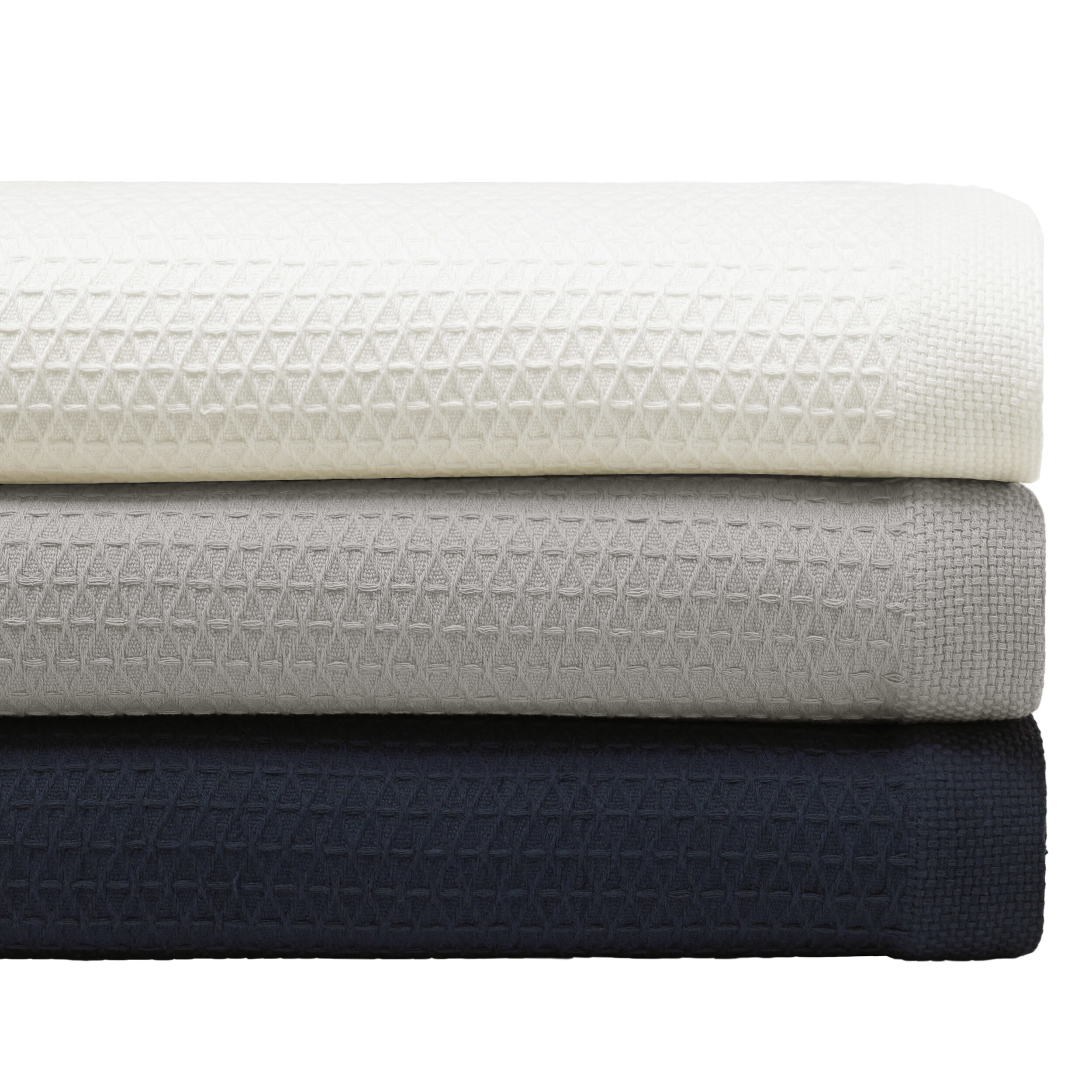 Shop Nautica Baird Diamond Knit Cotton Twill Blanket - Free Shipping ...