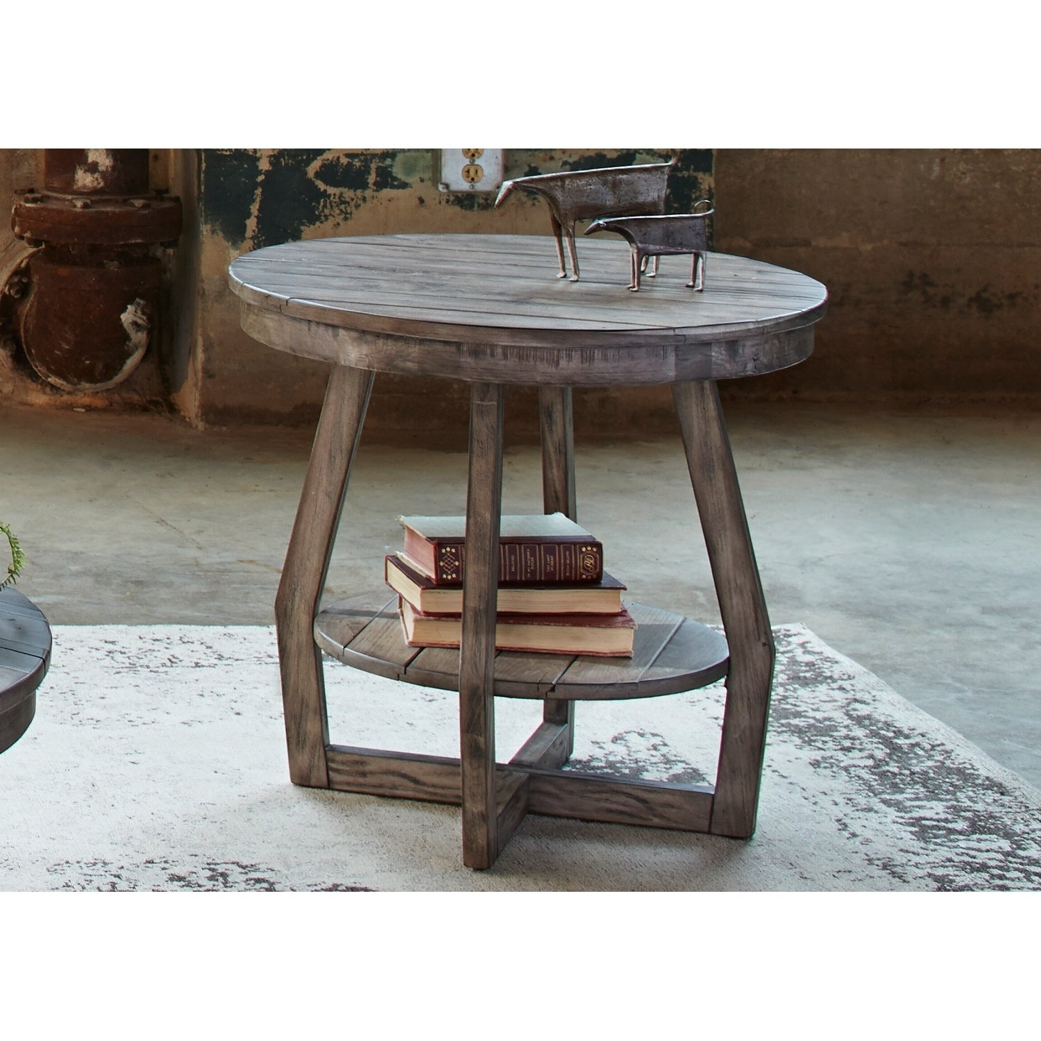 4096de54f8b Shop The Gray Barn Rosings Park Grey Wash Round End Table - Free Shipping  Today - Overstock - 20701542