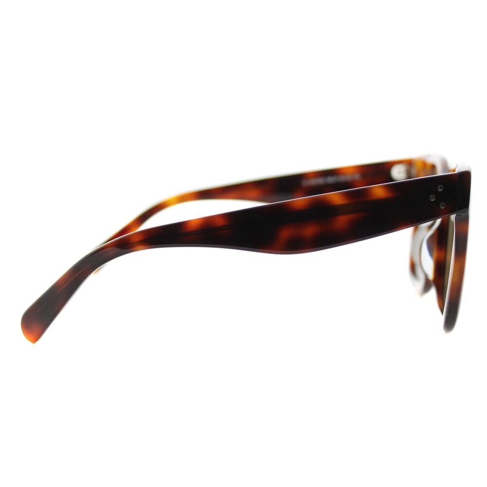 177058f81ac Shop Celine CL 41411 F 05L Luca Havana Plastic Grey Lens Square Sunglasses  - Free Shipping Today - Overstock - 12129800