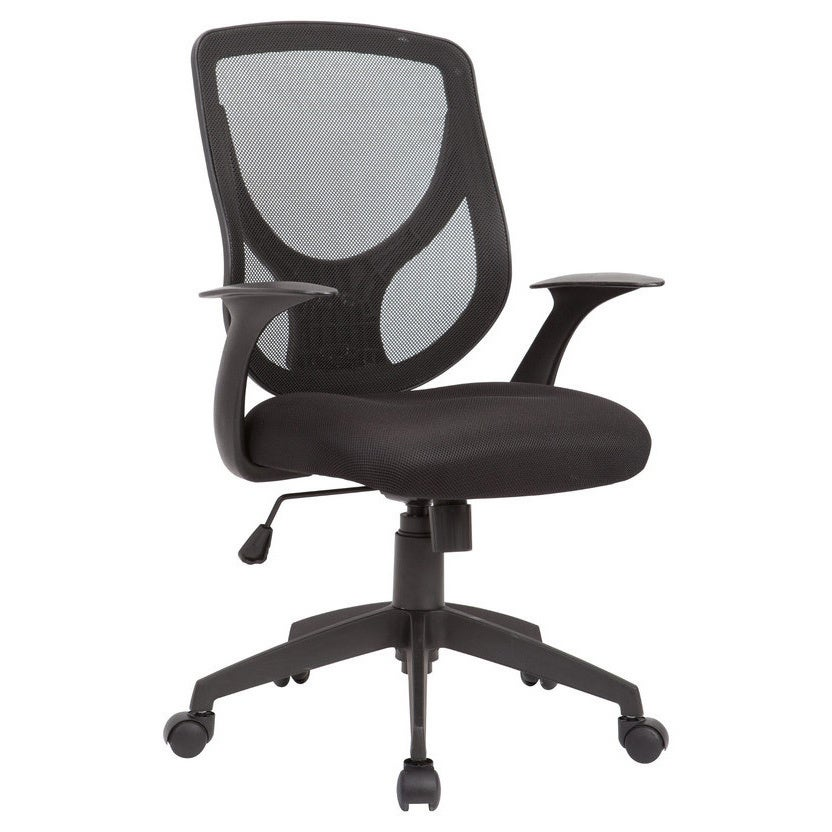 shop ac pacific black adjustable swivel office chair with mesh seat