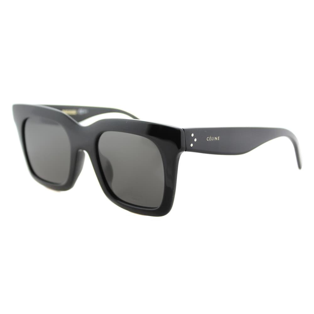 85a3e6cf401 Shop Celine CL 41411 F 807 Luca Black Brown Lens Square Sunglasses ...
