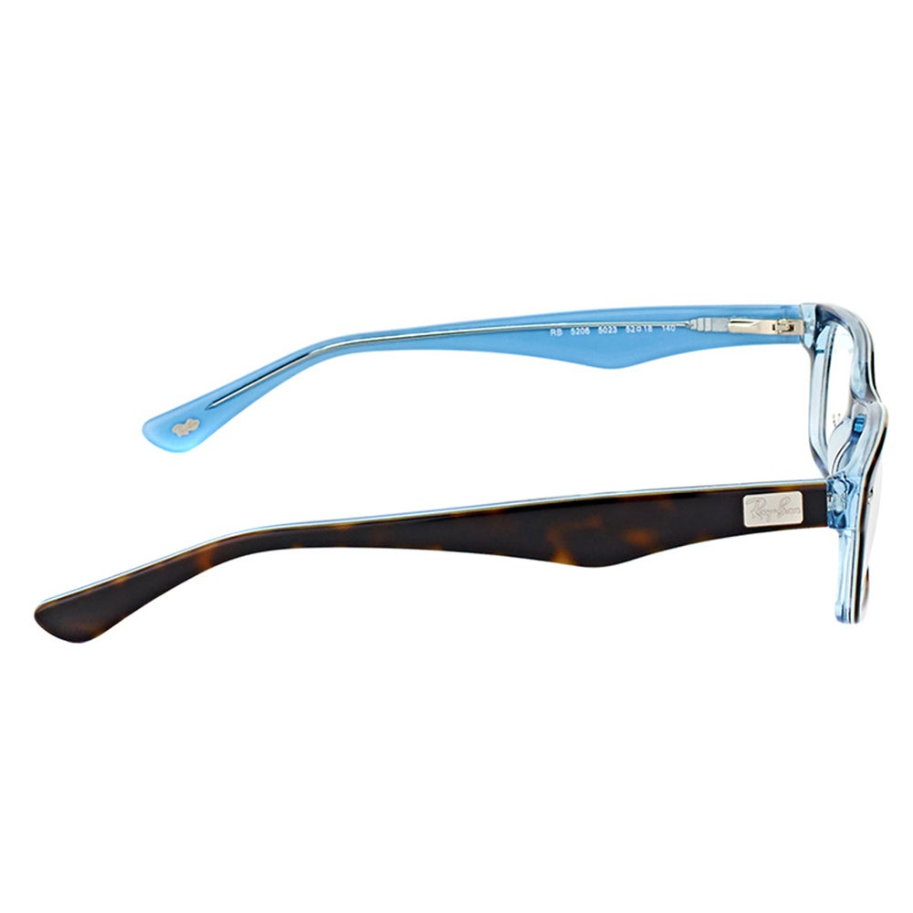 ef808f8f22 Shop Ray-Ban RX 5206 5023 Havana on Azure Blue Plastic Rectangle  54-millimeter Eyeglasses - Free Shipping Today - Overstock - 12131192