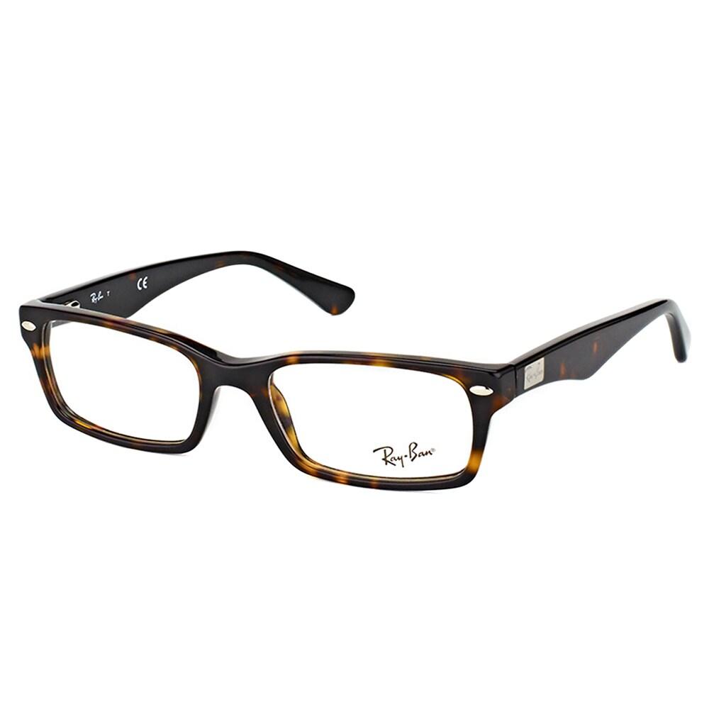 bf3231f854c Shop Ray-Ban RX 5206 2012 Dark Havana 54mm Rectangle Eyeglasses - Free  Shipping Today - Overstock - 12131199