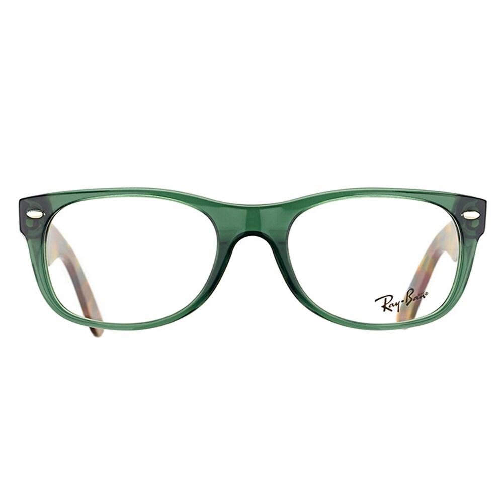 66cb1f0cfb Shop Ray-Ban Unisex RX 5184 5630 New Wayfarer Opal Green Plastic  50-millimeter Eyeglasses - Free Shipping Today - Overstock - 12131241