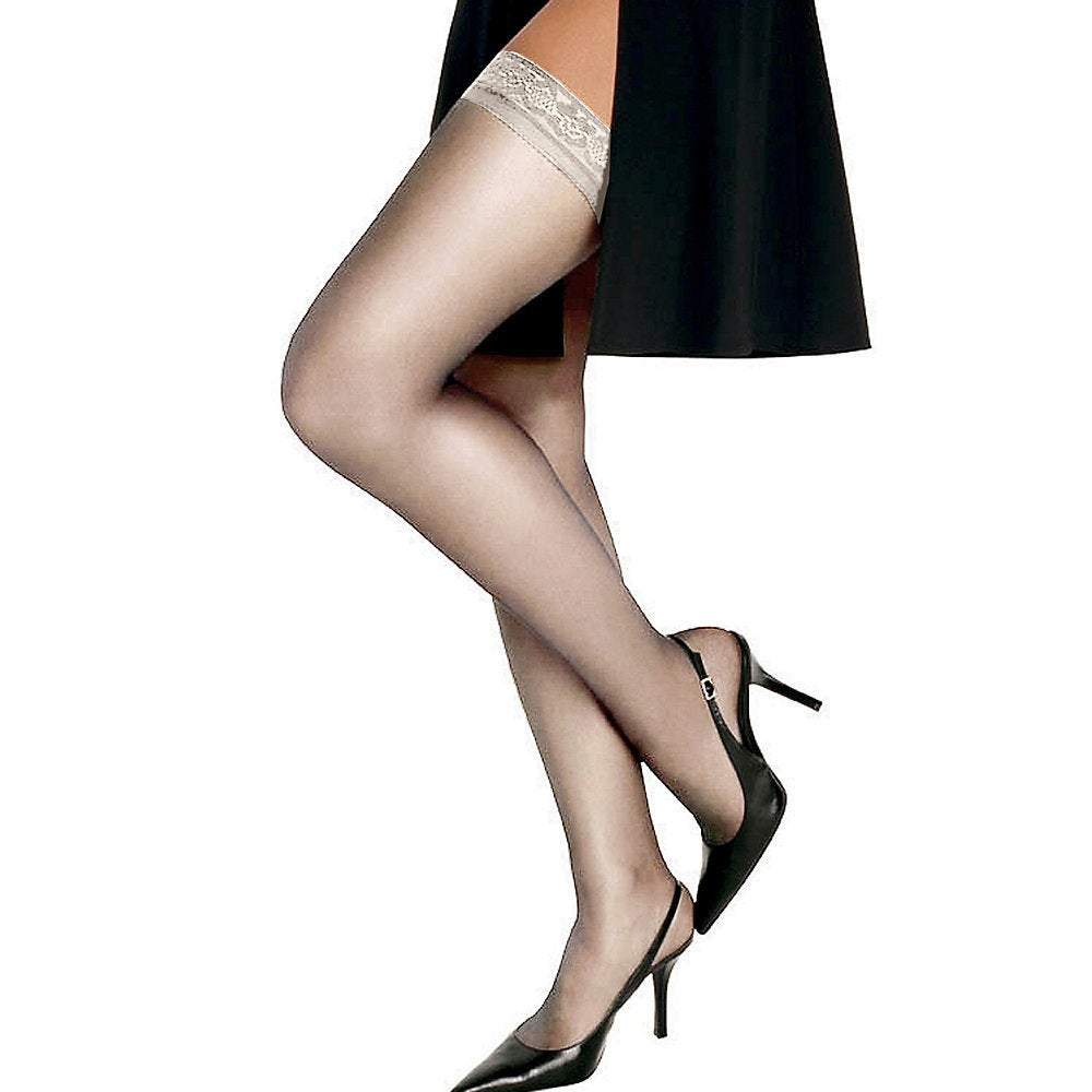 e083a23c8f8 Shop Silk Reflections Women s Silky Sheer Thigh High Pearl Pantyhose - On  Sale - Free Shipping On Orders Over  45 - Overstock - 12131874
