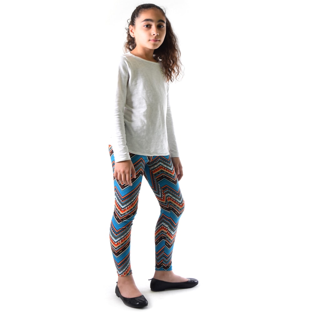 33371c881 Shop Dinamit Girl's Multicolor Nylon/Spandex Chevron Pattern Printed  Leggings - On Sale - Free Shipping On Orders Over $45 - Overstock.com -  12132377