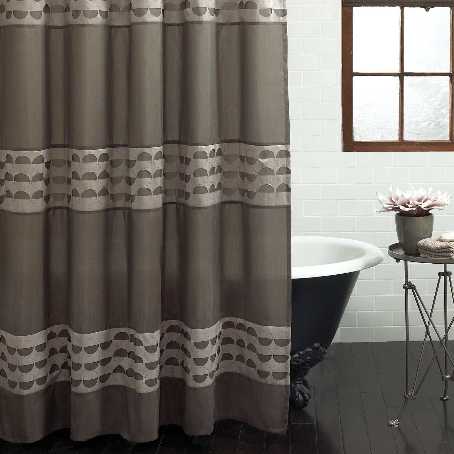 Shop Excell Piper Fabric Shower Curtain
