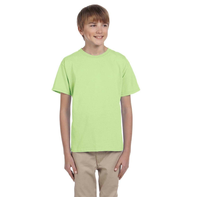 Gildan Boys Green Cotton Polyester T Shirt Free Shipping On