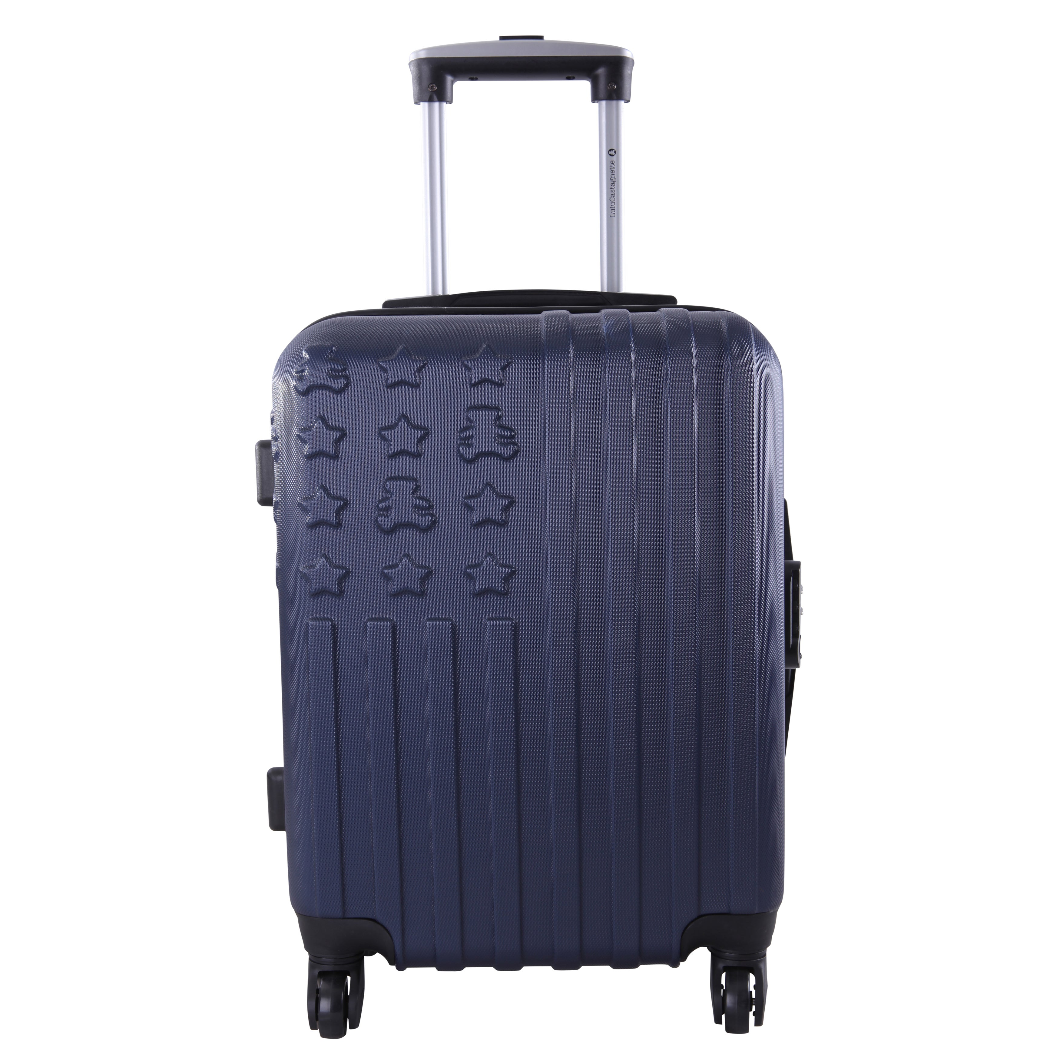 c47d51443 Shop Lulu Castagnette Navy 3-piece Hardside Spinner Luggage Set - Free  Shipping Today - Overstock - 12135528