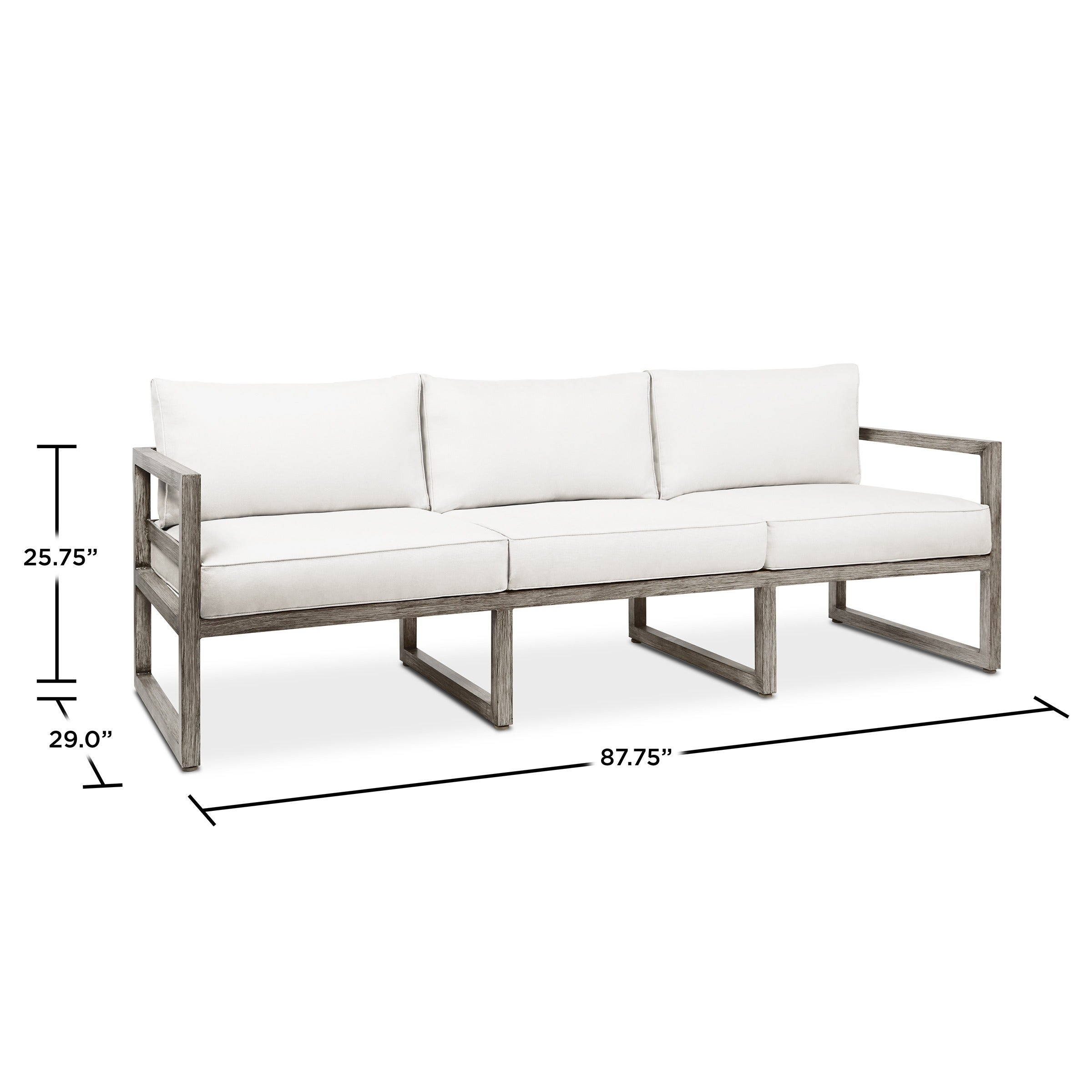 Shop Monaco Outdoor 3 Seat Sofa By Real Flame   Free Shipping Today    Overstock.com   12135529