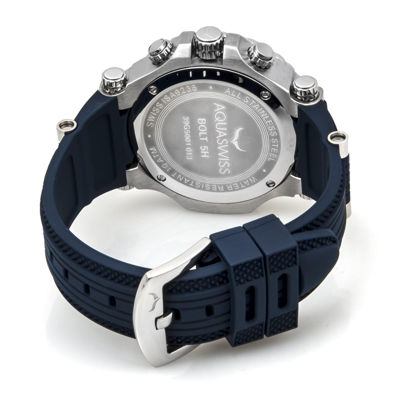 shop aquaswiss men s blue bolt 5h watch on sale free shipping