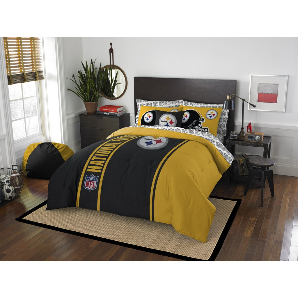 Shop The Northwest Company NFL Pittsburgh Steelers Full 7-piece Bed in a Bag  with Sheet Set - Free Shipping Today - Overstock.com - 12136041 e352e6644