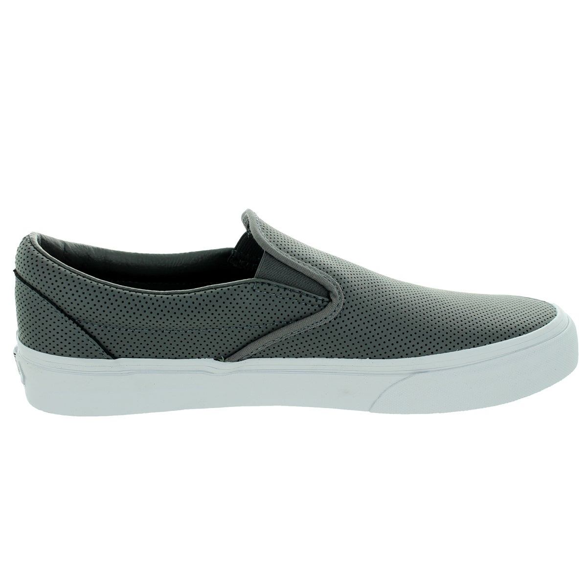 68111299e4 Shop Vans Unisex Classic Slip-On Perforated Leather Smoked Peark Skate Shoe  - Free Shipping Today - Overstock.com - 12136477