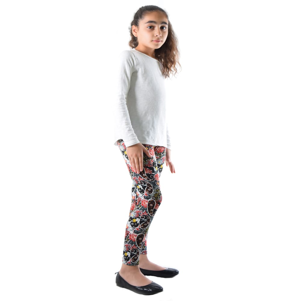 23b34afad Shop Dinamit Girls' Multicolor Nylon/Spandex Floral Paisley Printed Leggings  - On Sale - Free Shipping On Orders Over $45 - Overstock.com - 12138618