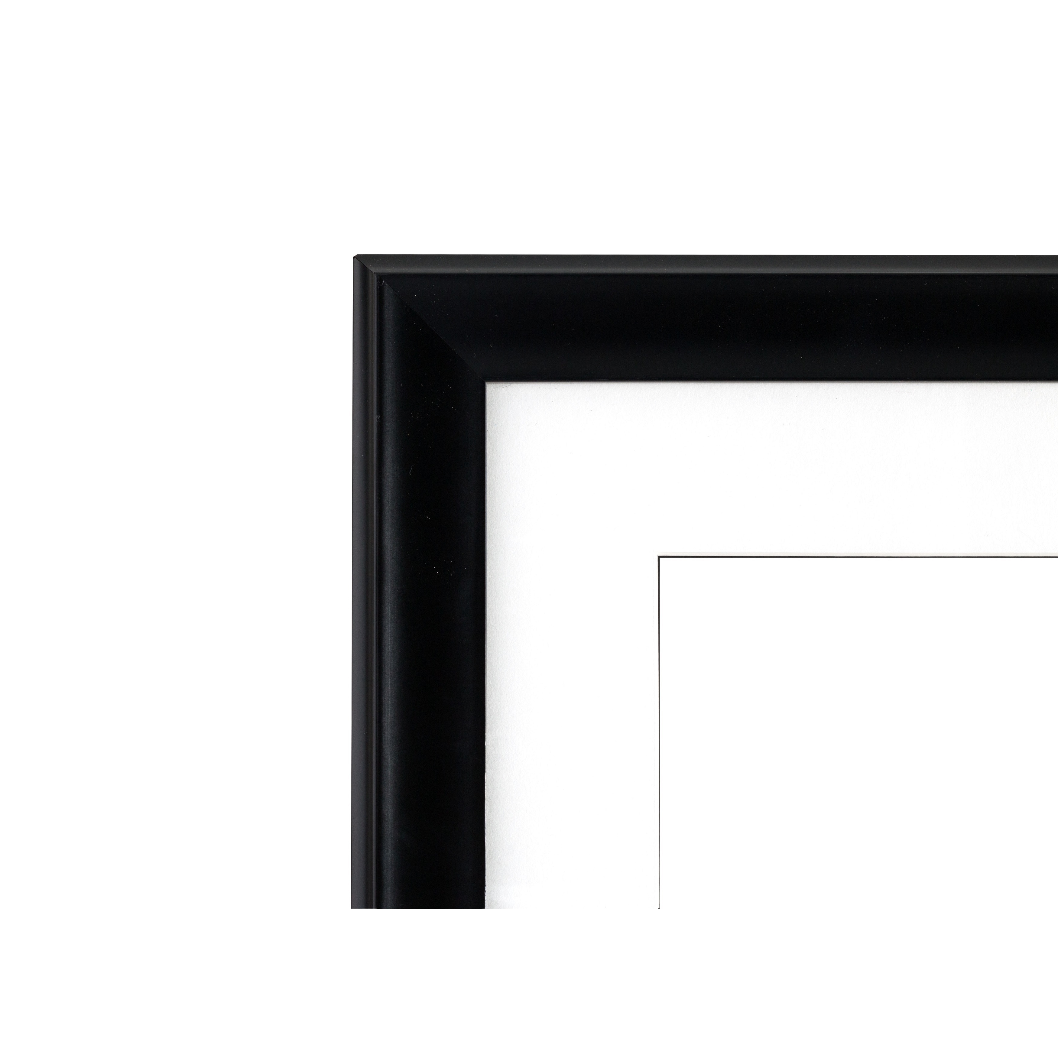 Shop Artcare 13-inch x 15.5-inch Treviso Matte Black Document Frame ...