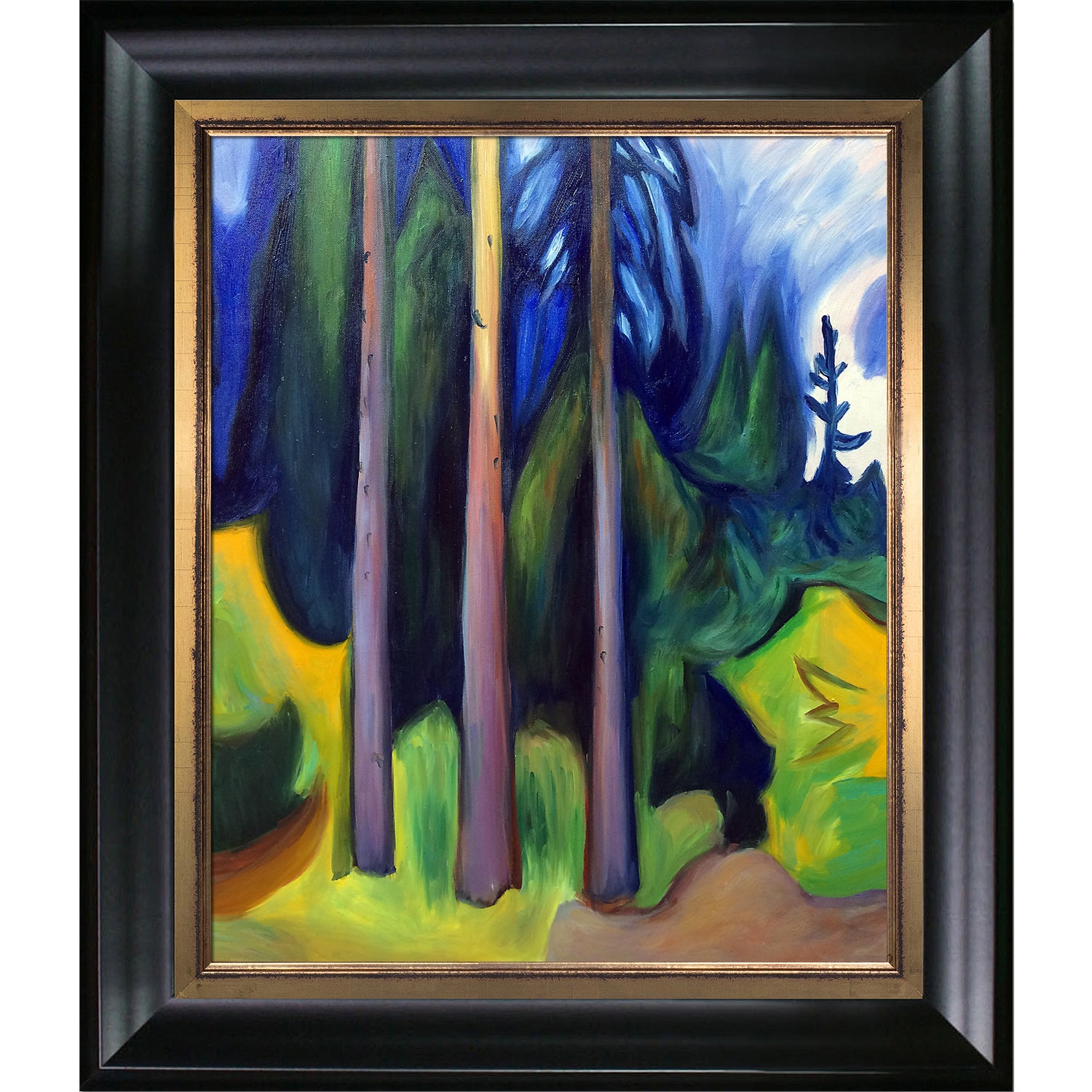 shop edvard munch forest 1903 hand painted framed canvas art on