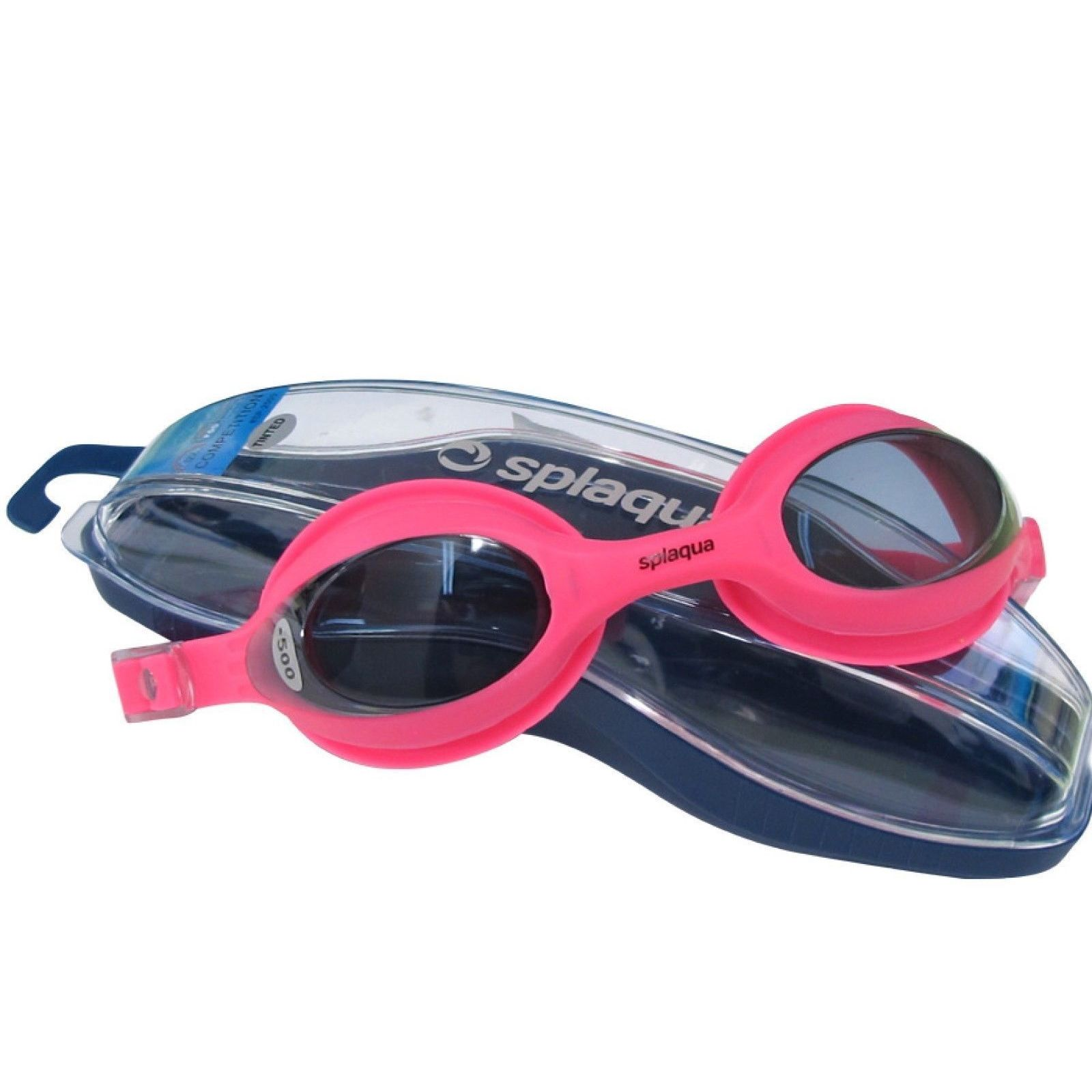 f082805c7562 Shop Splaqua Prescription Swim Goggles Pink Strap Tinted Lens Anti Fog - On  Sale - Free Shipping On Orders Over  45 - Overstock - 12142391