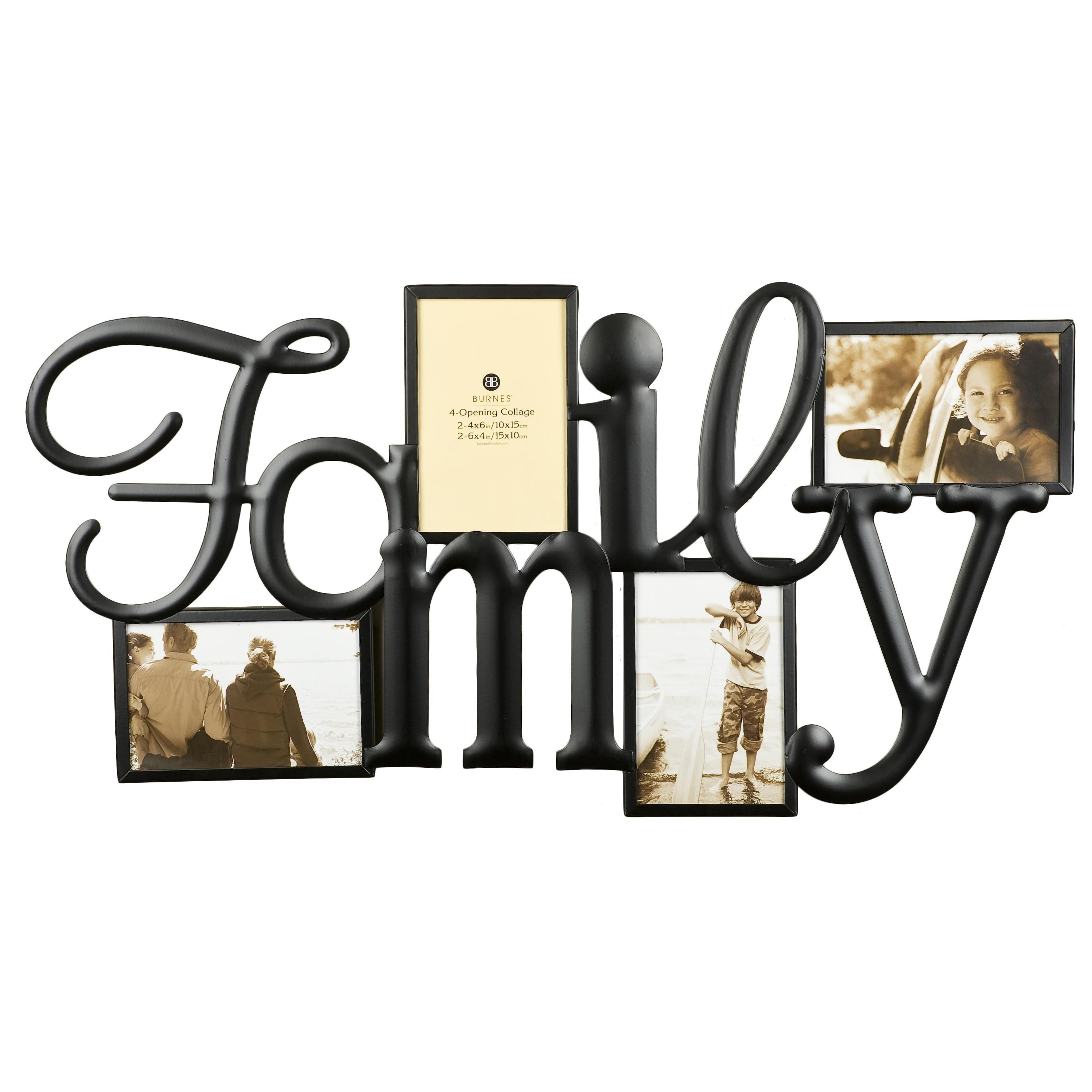 Shop Burnes of Boston Family Bronze Metal 4-opening Collage Frame ...