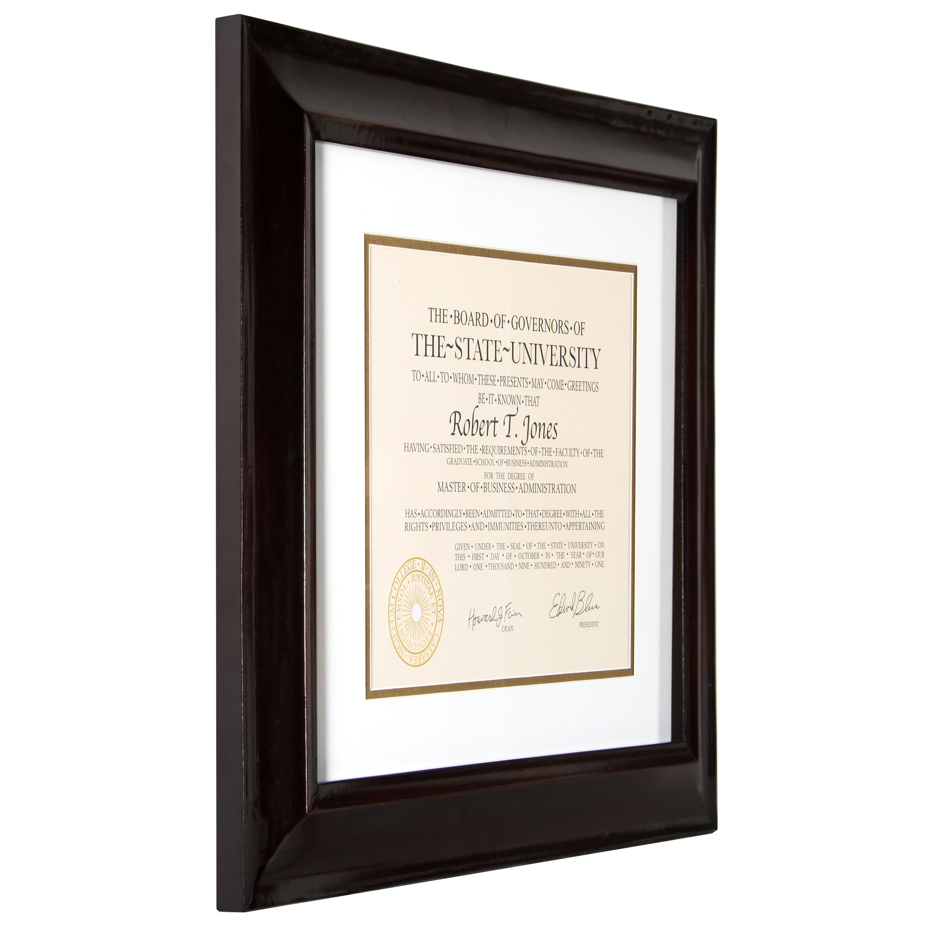 Artcare hampton walnut wood 12 inch x 15 inch document frame artcare hampton walnut wood 12 inch x 15 inch document frame free shipping on orders over 45 overstock 19002054 jeuxipadfo Images
