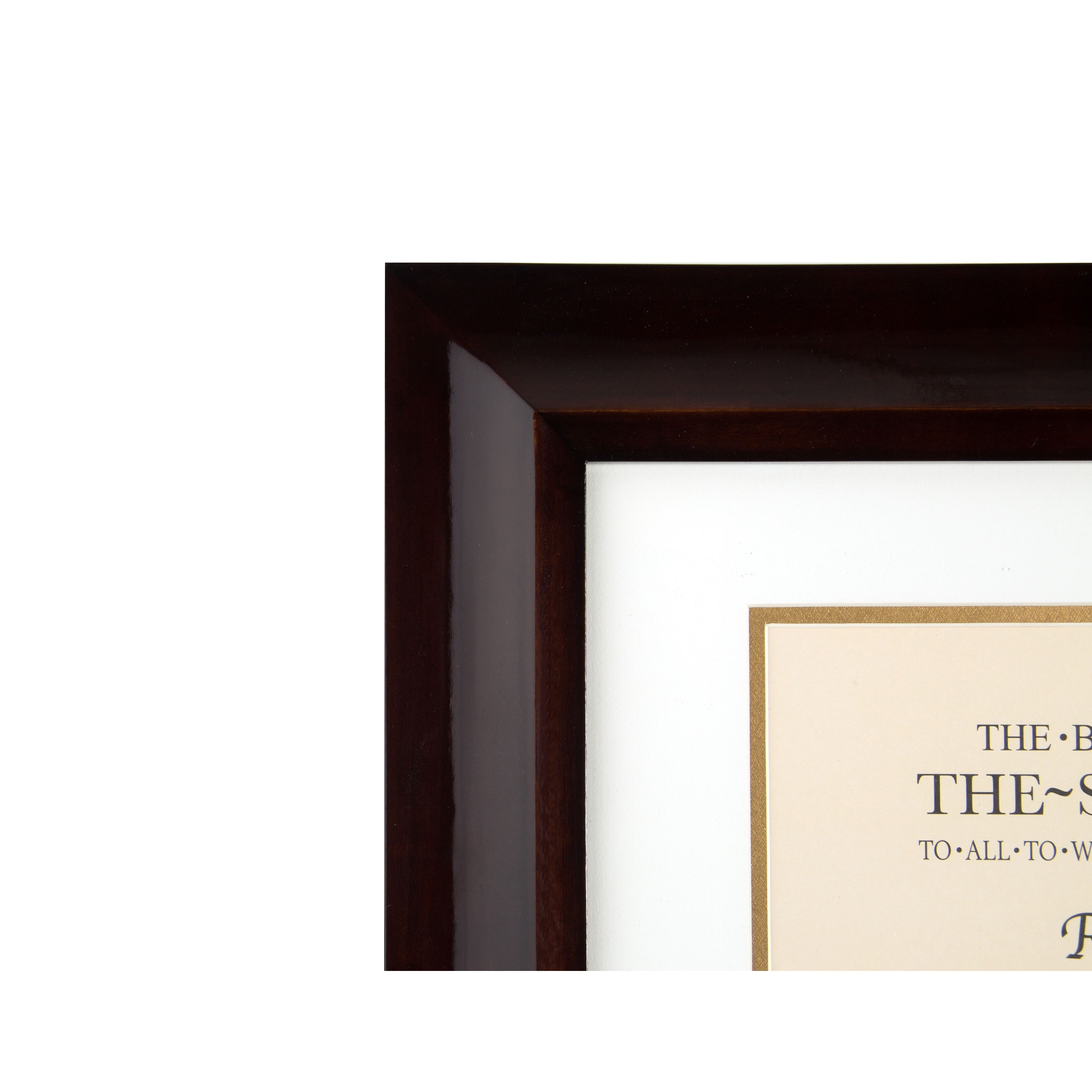 Shop Artcare Hampton Walnut Wood 12-inch x 15-inch Document Frame ...