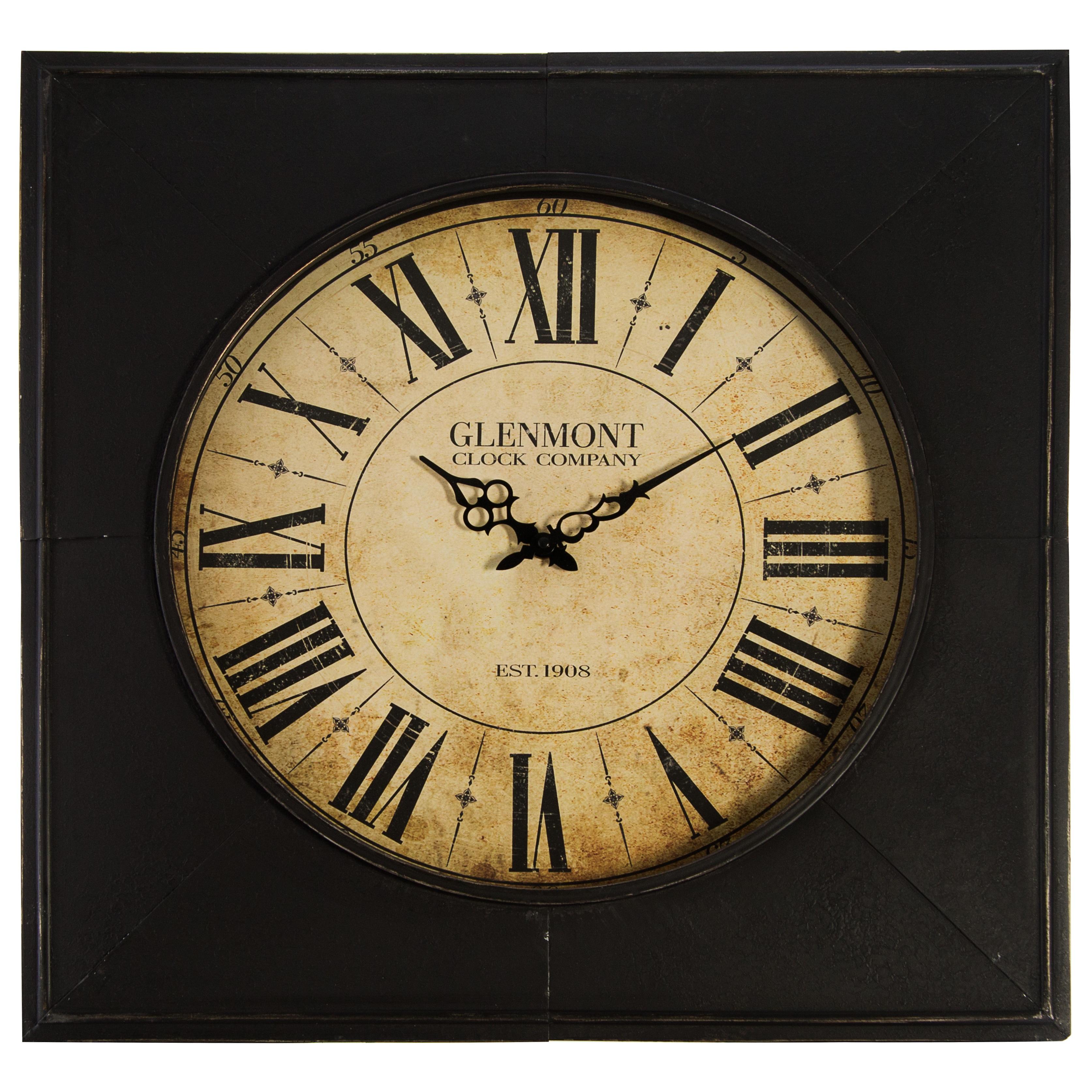 Shop Glenmont Distressed Black Metal 24-inch Clock - Free Shipping ...