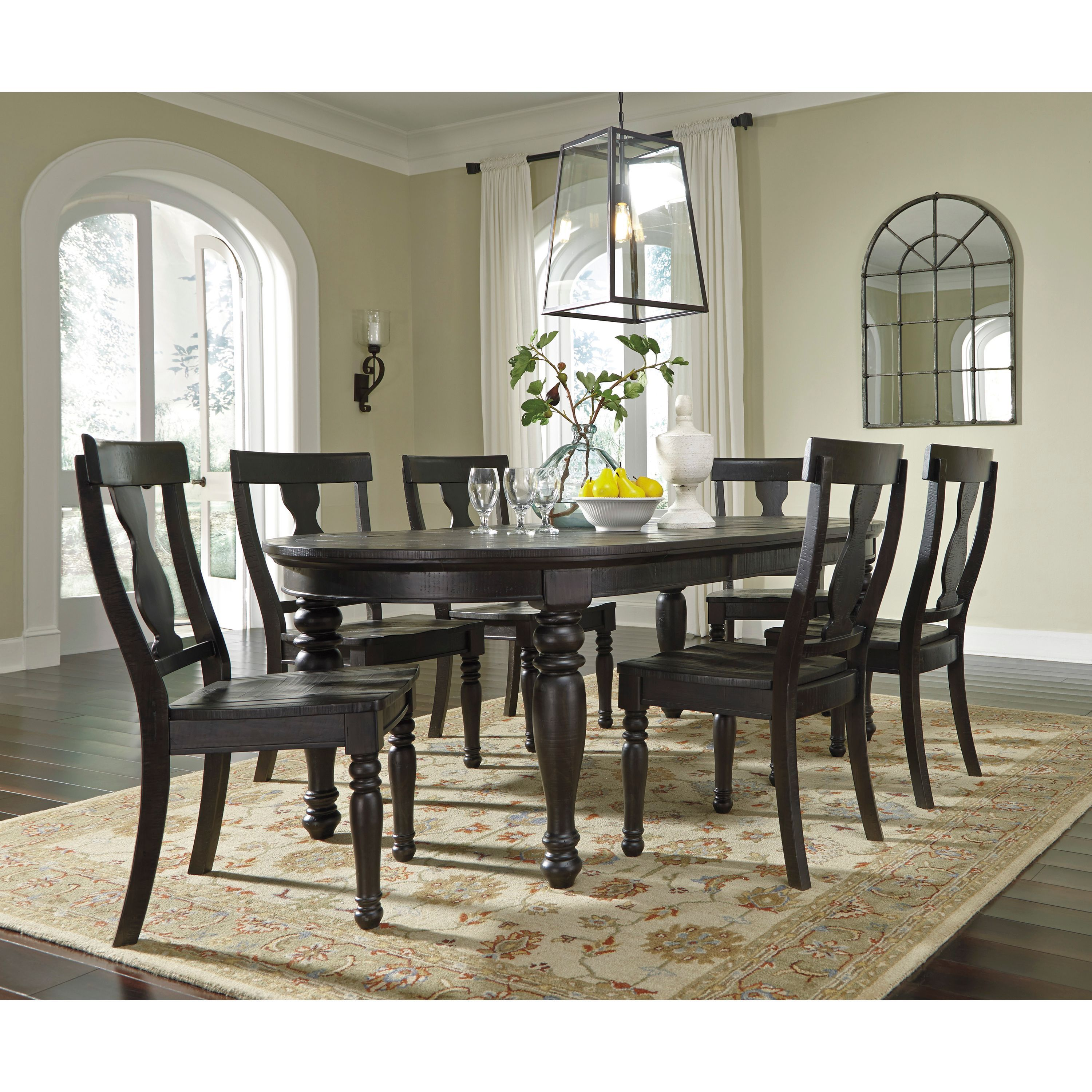 Signature Design by Ashley Sharlowe Charcoal Large Dining Room ...
