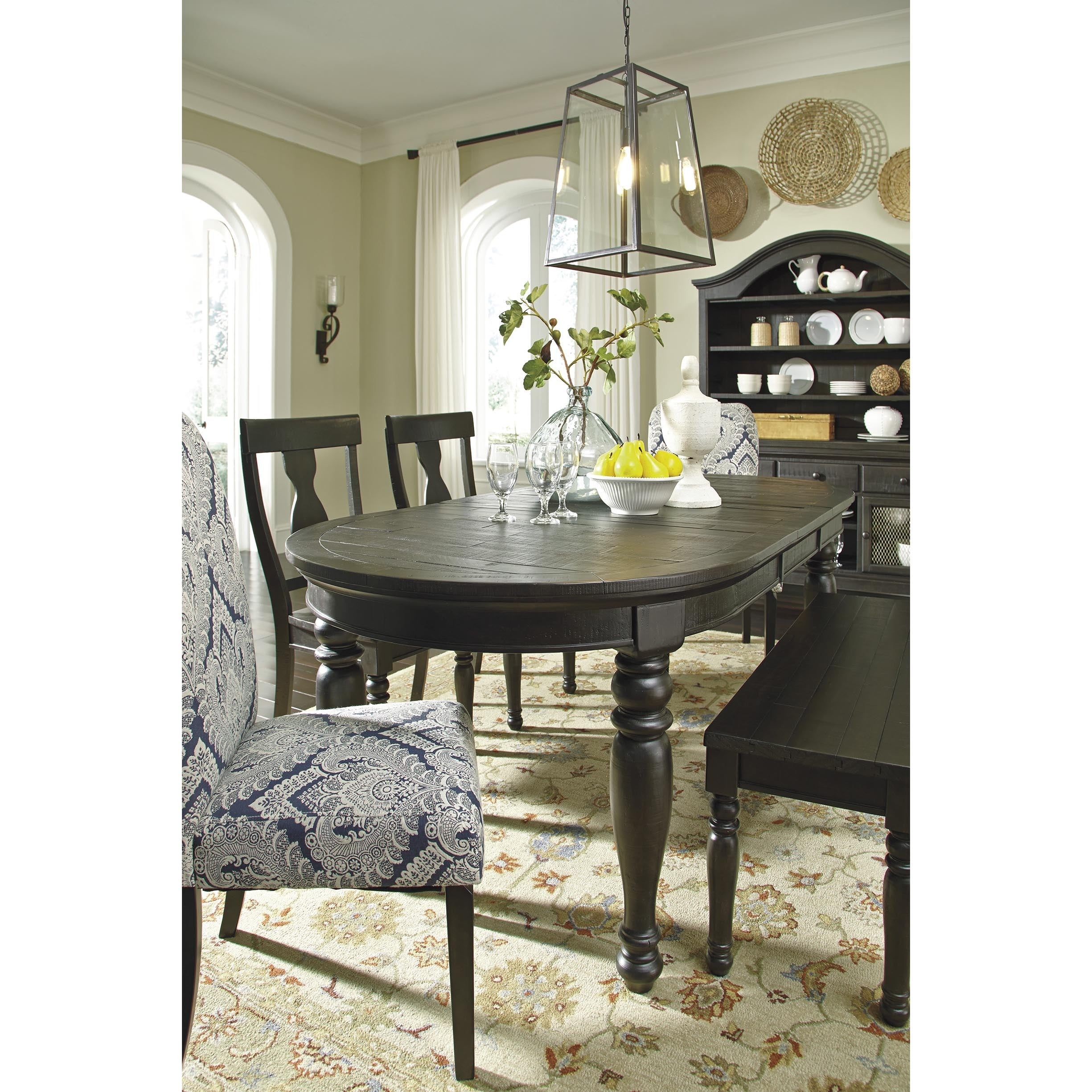 Signature Design by Ashley Sharlowe Charcoal Dining Room Set ...