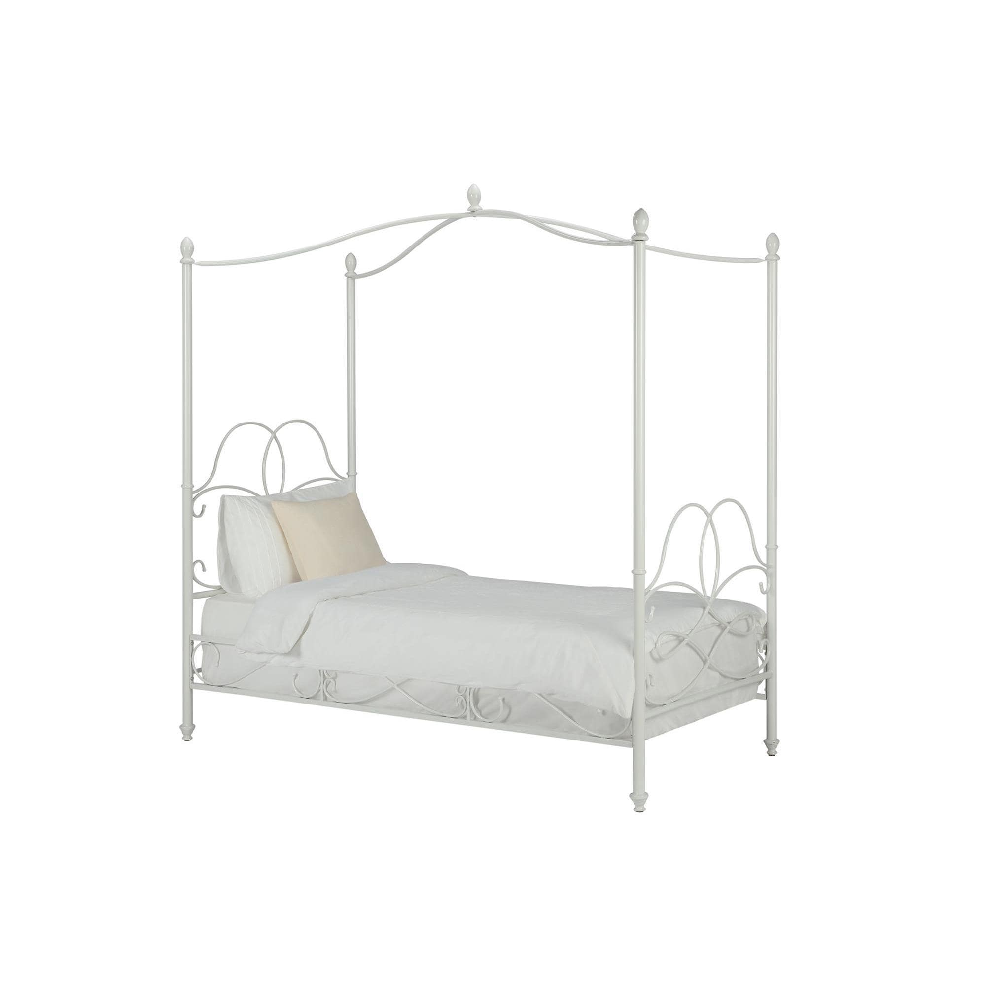 Shop DHP Fancy White Metal Canopy Twin Bed - Free Shipping Today ...