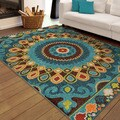 "Carolina Weavers Indoor/Outdoor Geo Bangkok Multi Area Rug  (5'2"" x 7'6"") (As Is Item)"