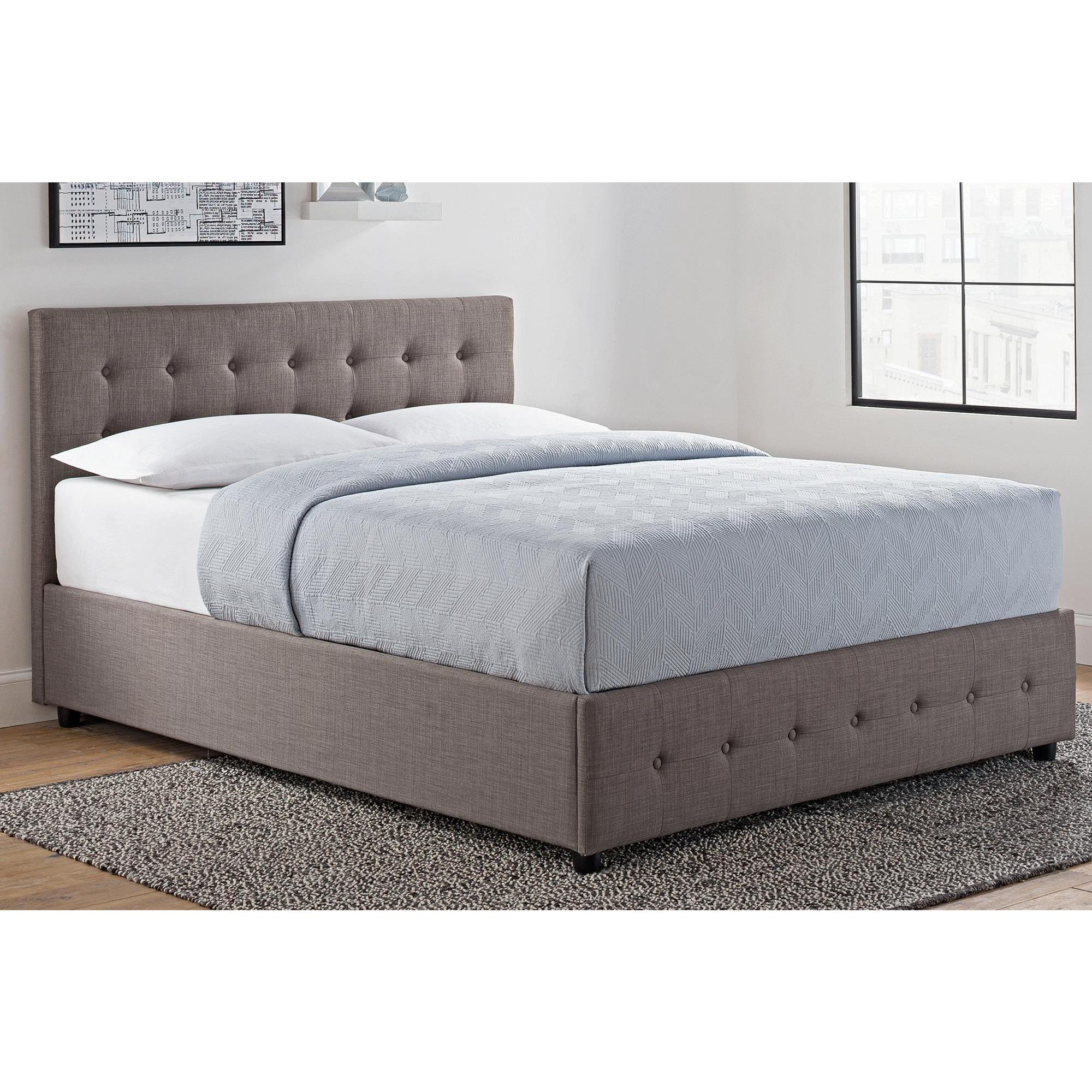 4e09cc842a91 Shop DHP Cambridge Grey Linen Upholstered Bed with Storage - Free Shipping  Today - Overstock - 12150963