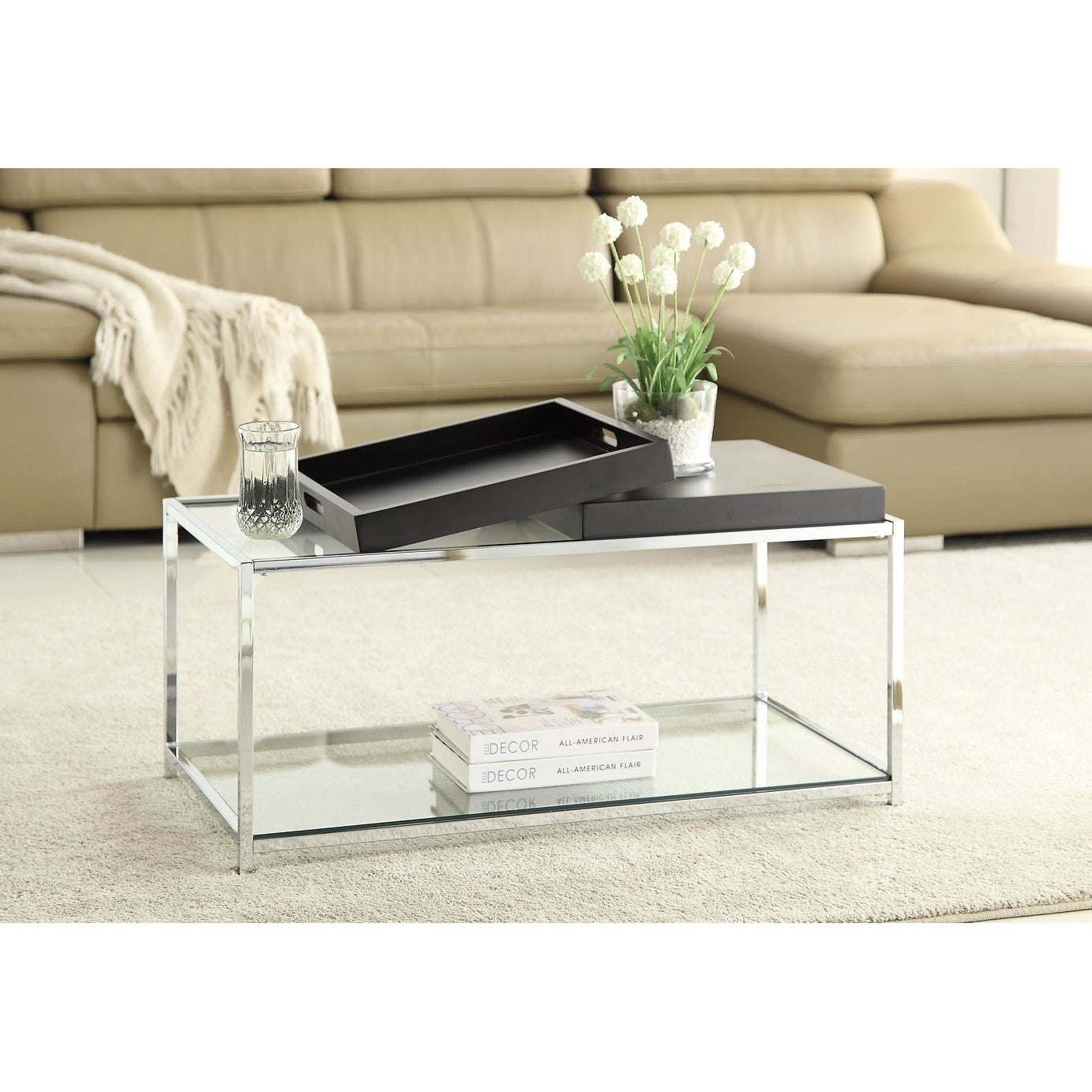 Shop Convenience Concepts Palm Beach Coffee Table   Free Shipping Today    Overstock.com   12157519