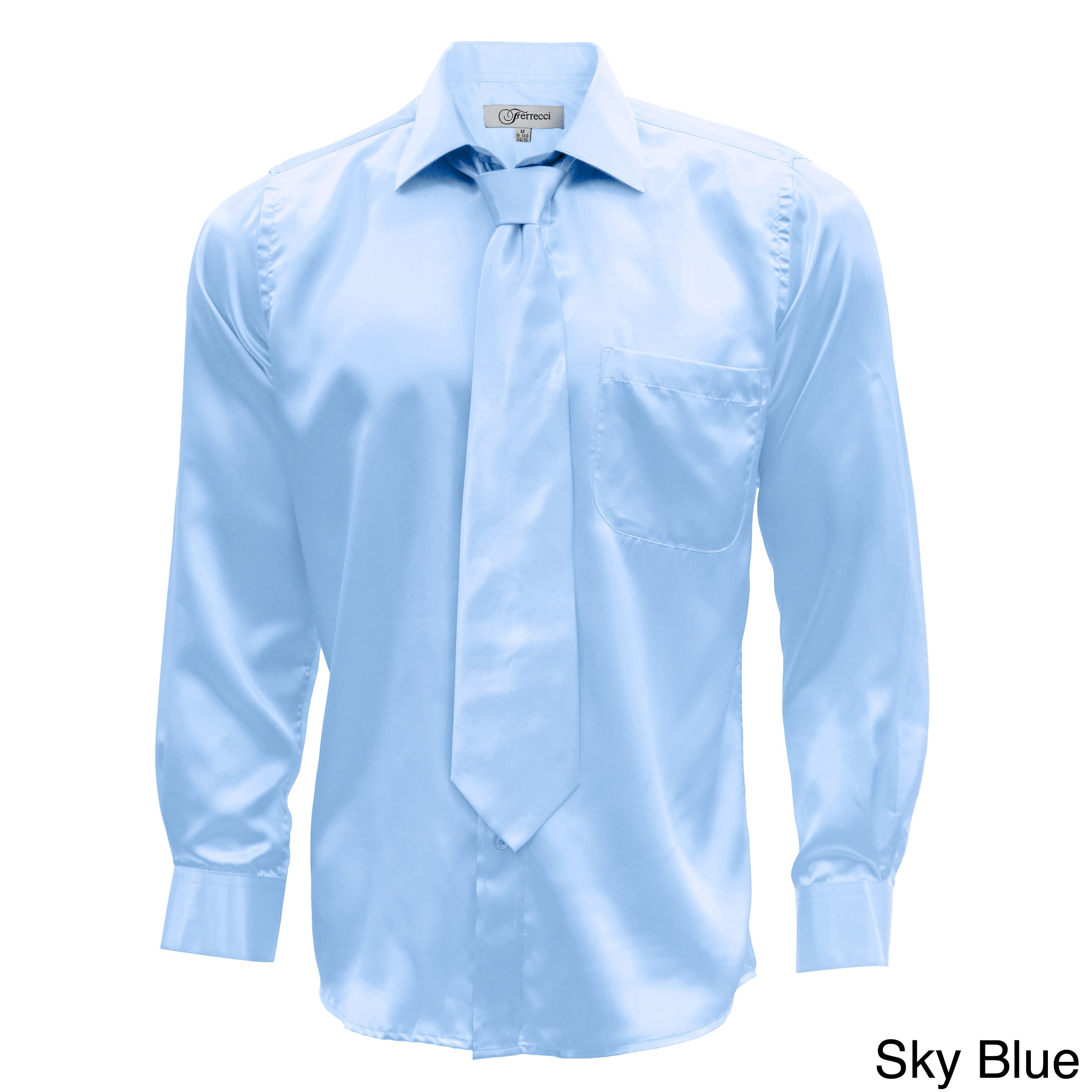 Shop Mens Satin Dress Shirt Xs To Big And Tall Necktie And Hanky