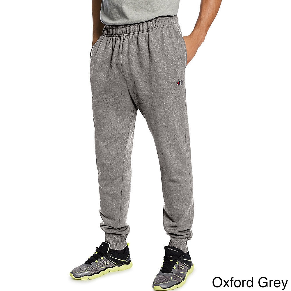 3d31af359bf1 Shop Champion Men s Powerblend Retro Fleece Jogger Pants - Free Shipping On  Orders Over  45 - Overstock - 12171662
