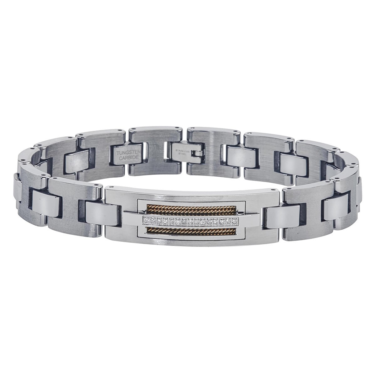 for bracelet s silver watchband img him hexagon tungsten gifts collections pattern products men steel