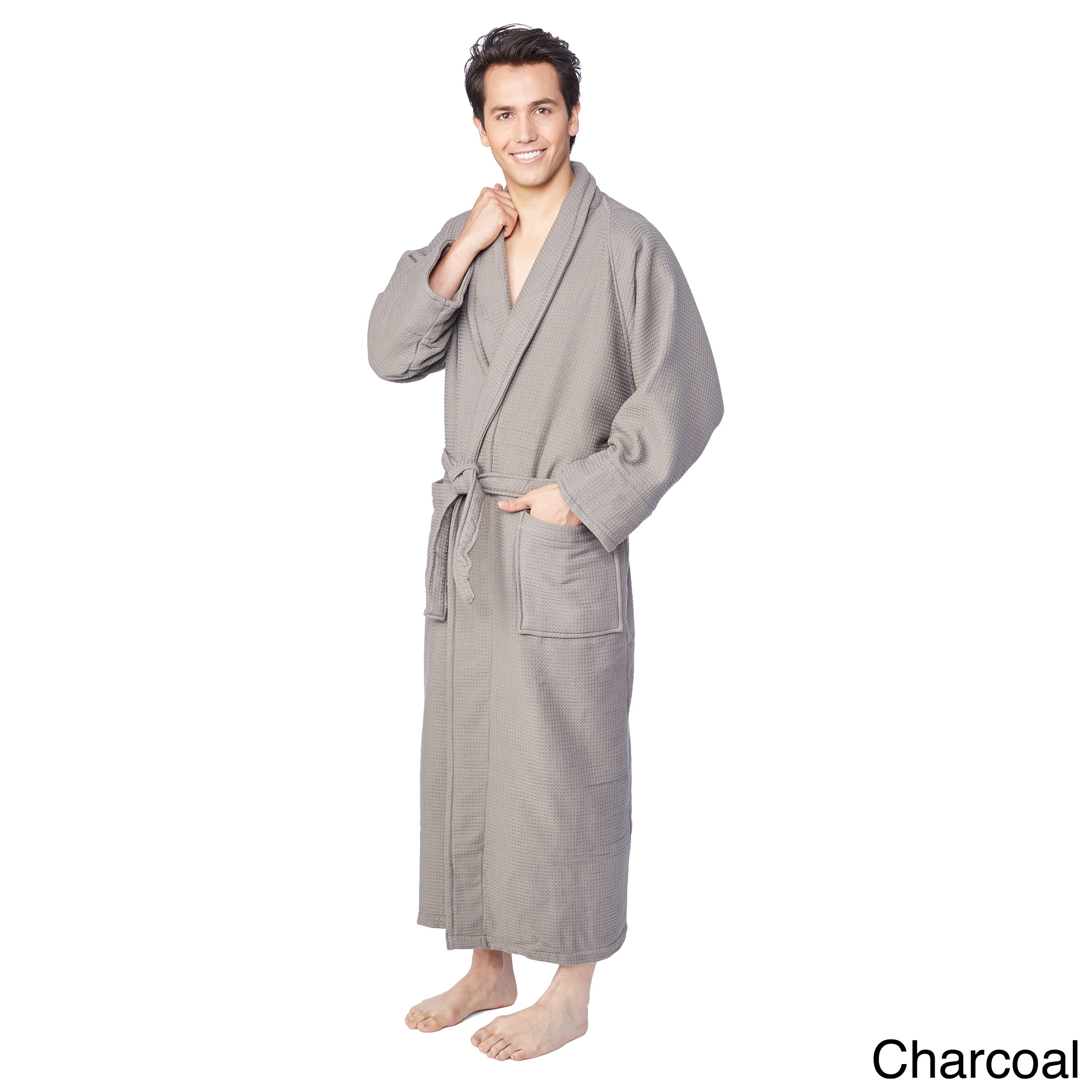 Shop Superior Cotton Waffle Weave Spa Bath Robe - Free Shipping ... 14d1b0acd