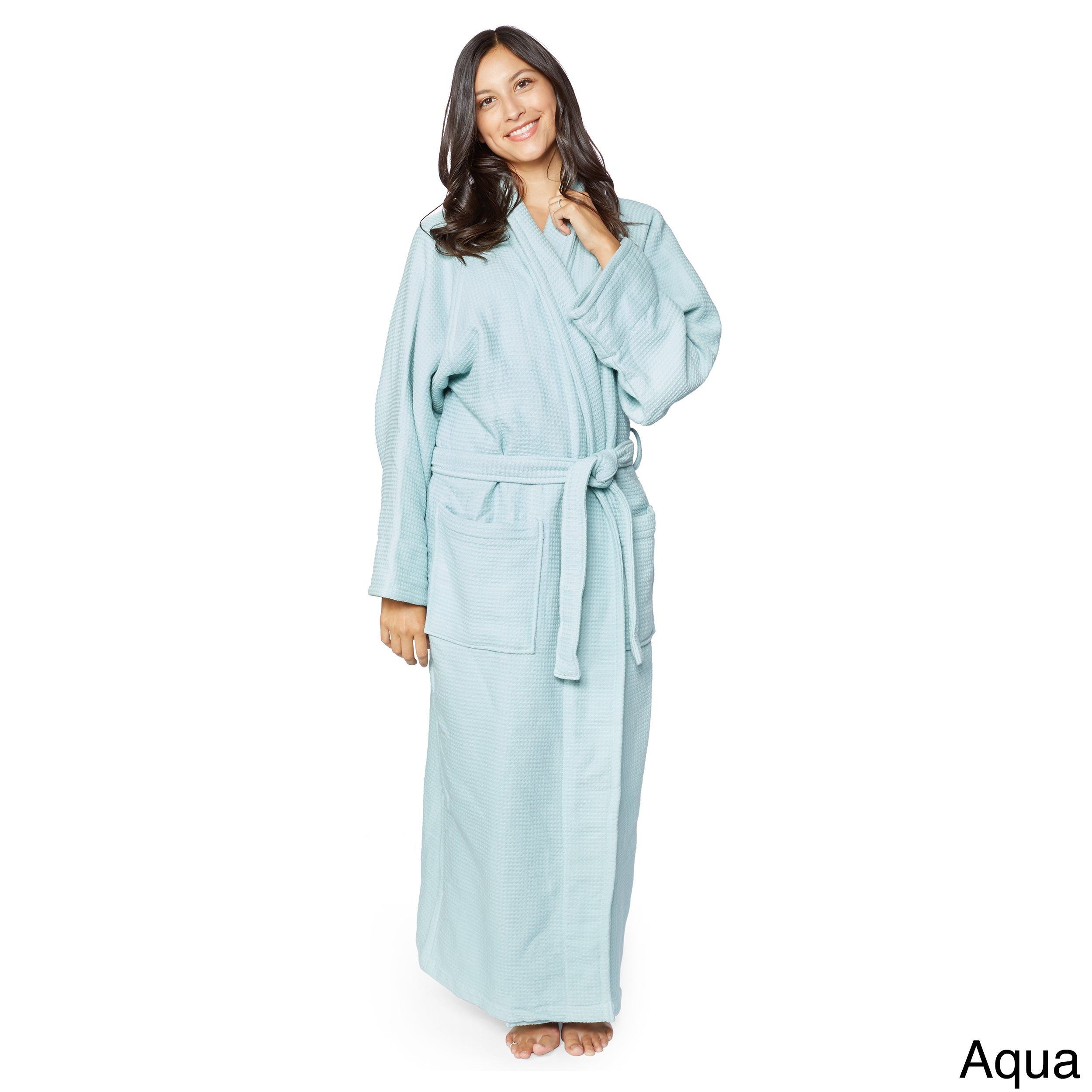 d34ee3e329 Shop Superior Cotton Waffle Weave Spa Bath Robe - On Sale - Free Shipping  Today - Overstock - 12172736