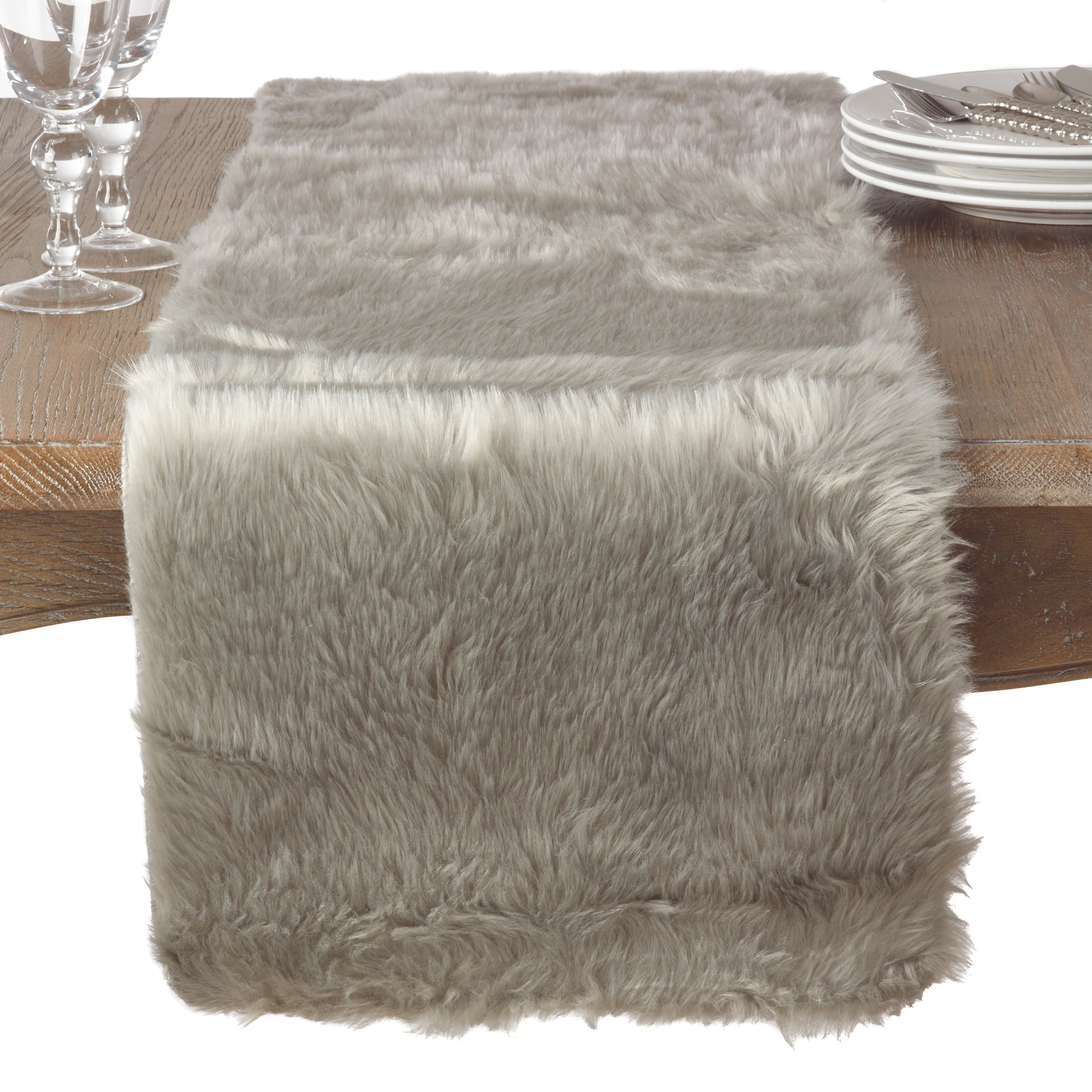 Juneau Collection Faux Fur Table Runner Free Shipping On Orders Over 45 12172790