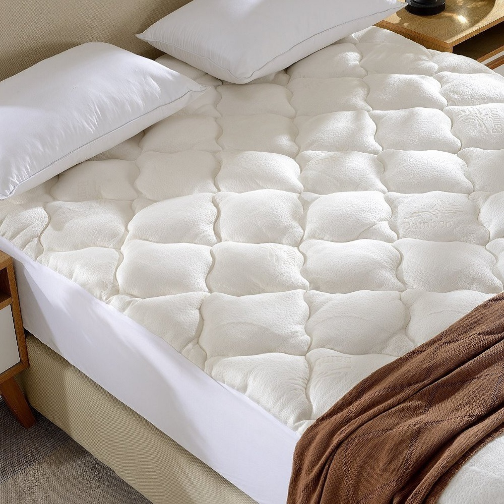 bamboo bedding mattresses pad products under mattress matt and down