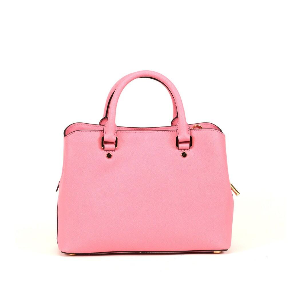 1a681967797d Shop Michael Kors Misty Rose Medium Savannah Satchel Handbag - Free  Shipping Today - Overstock - 12173339