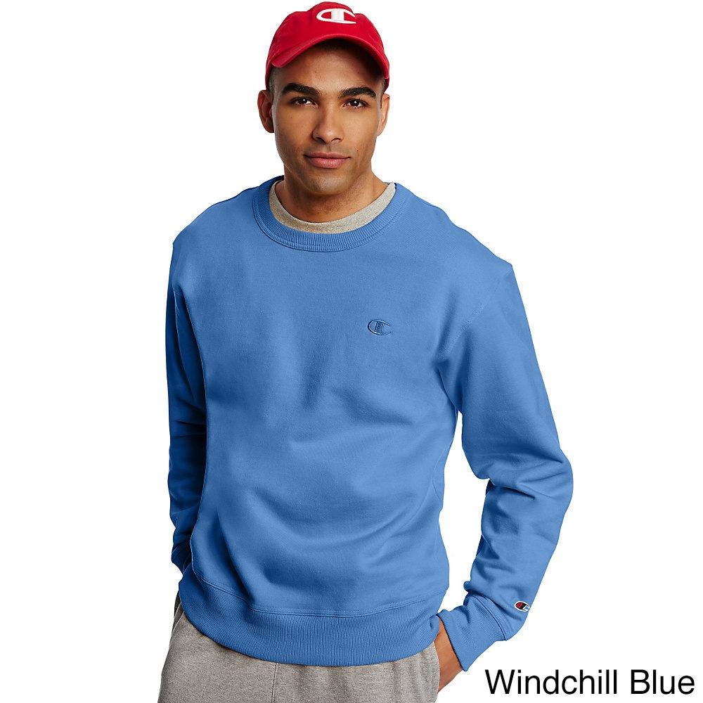 6b992a726d90 Shop Champion Men s Powerblend Fleece Pullover Crew - Free Shipping ...