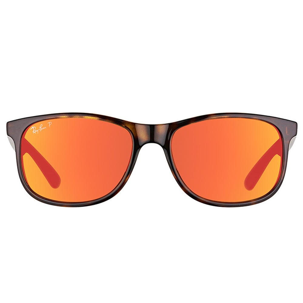 7175305999d Shop Ray-Ban RB 4202 710 6S Andy Shiny Havana Plastic Wayfarer Orange  Mirror Polarized Lens Sunglasses - Free Shipping Today - Overstock -  12177502