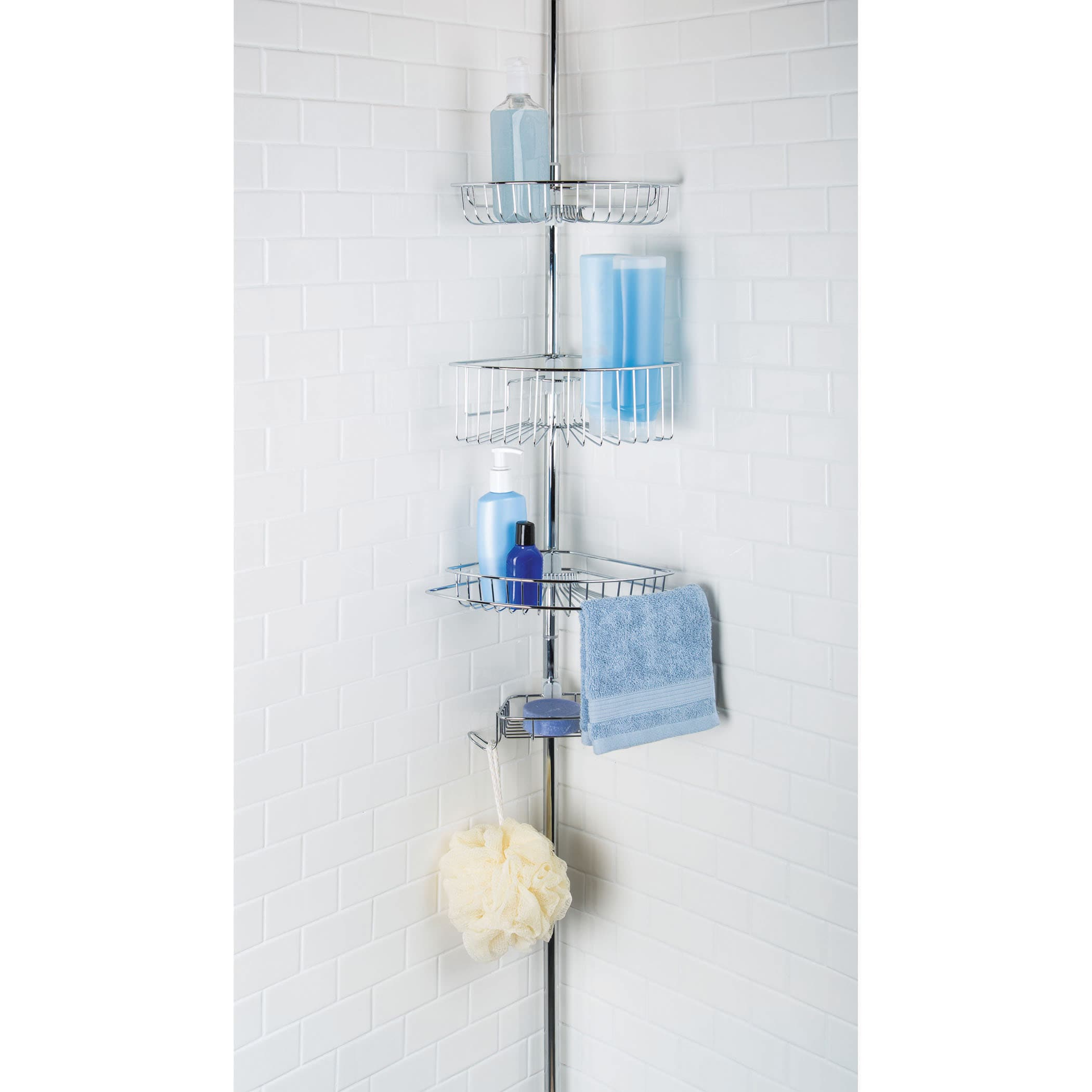 Shop Chrome Lakeview 3-tier Tension Pole Shower Caddy - Free ...