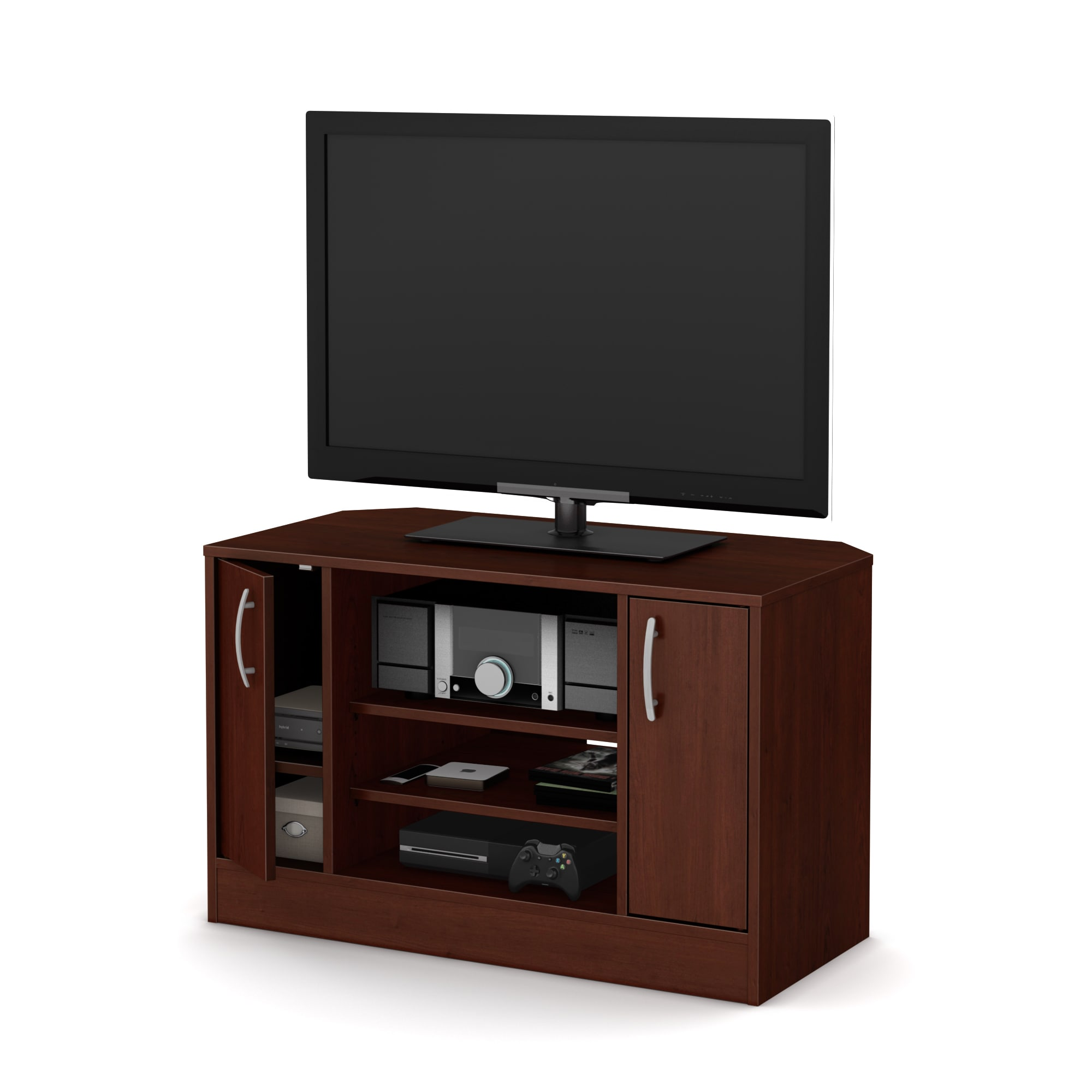 Shop South Shore Axess Corner TV Stand With Doors For TVs Up To 42u0027u0027   Free  Shipping Today   Overstock.com   12178298