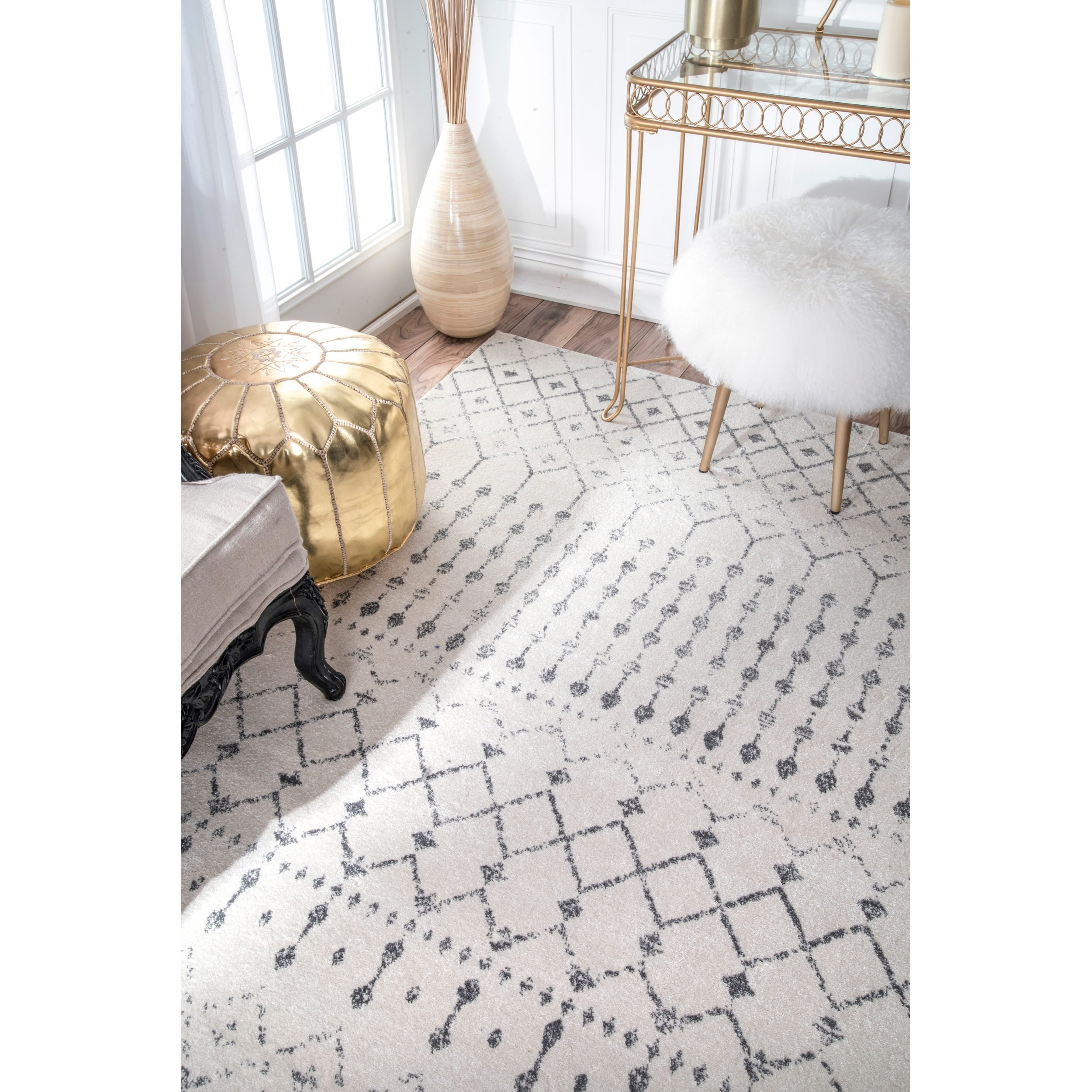 Nuloom Geometric Moroccan Beads Grey Rug 2 X 3 On Free Shipping Orders Over 45 20352147
