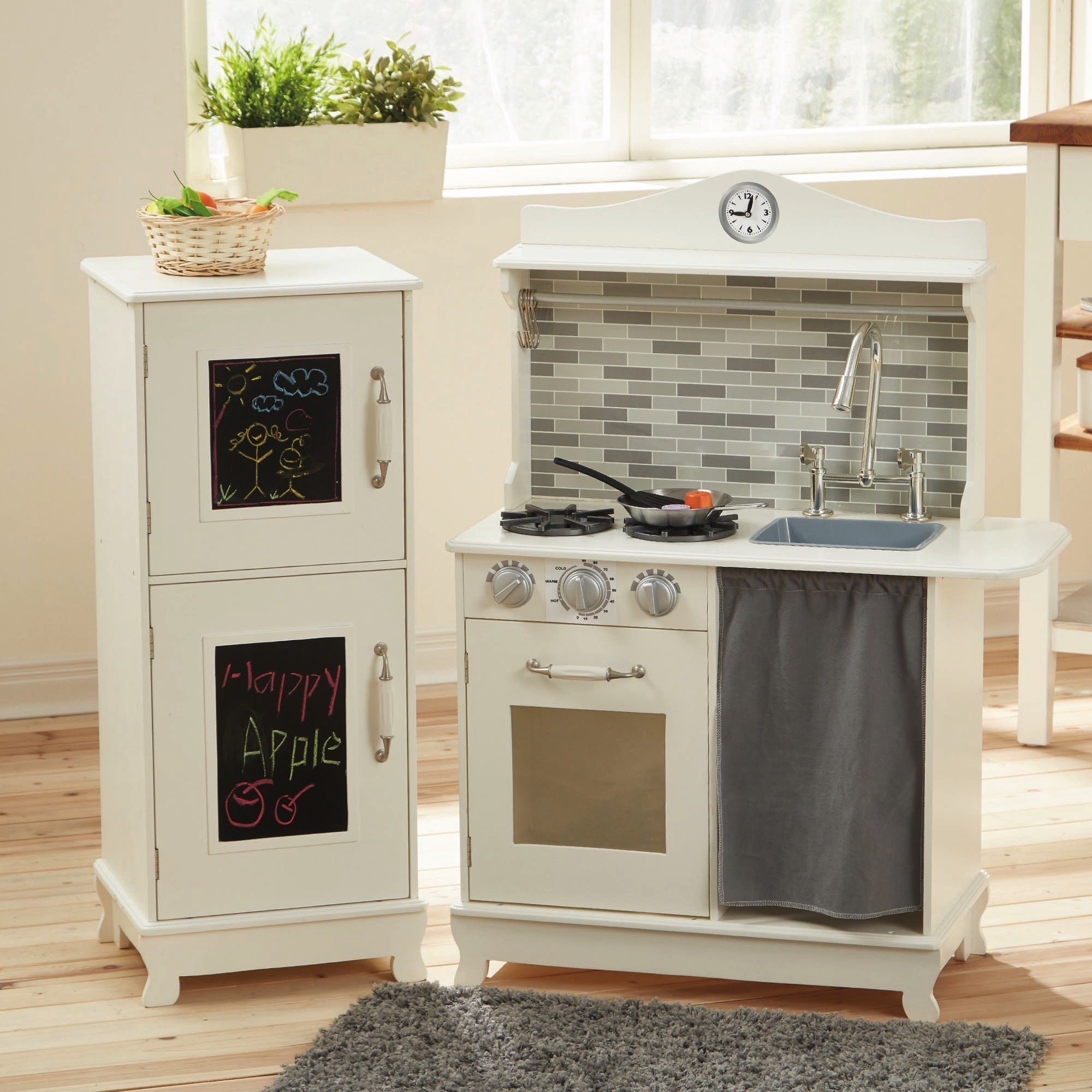 Shop teamson kids sunday brunch white wooden play kitchen on sale free shipping today overstock com 12179166
