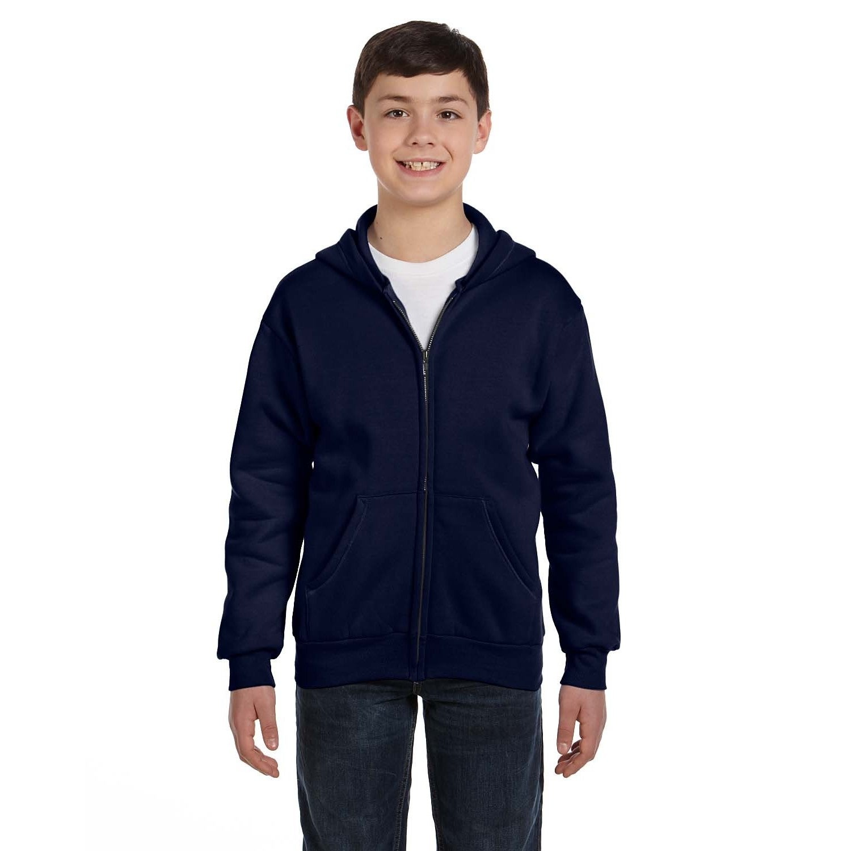 395da3f93ea5 Shop Comfortblend Boy s Navy Ecosmart Full-zip Hoodie Sweatshirt - On Sale  - Free Shipping On Orders Over  45 - Overstock.com - 12179377