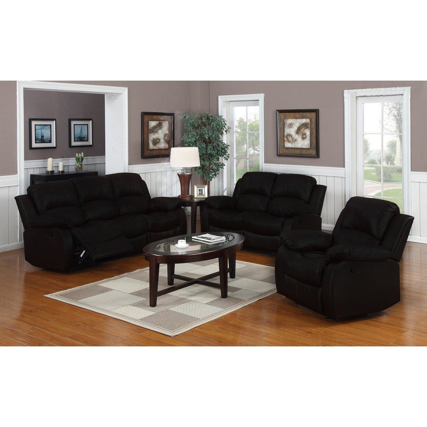 Shop Classic Oversize And Overstuffed Real Leather Sofa, Loveseat, And  Single Chair Recliners   Free Shipping Today   Overstock.com   12179394
