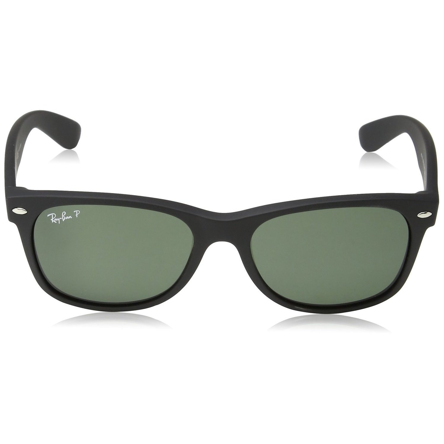 aa52cfbe7f Shop Ray-Ban RB2132 622 58 New Wayfarer Black Frame Polarized Green 52mm  Lens Sunglasses - Free Shipping Today - Overstock - 12180364