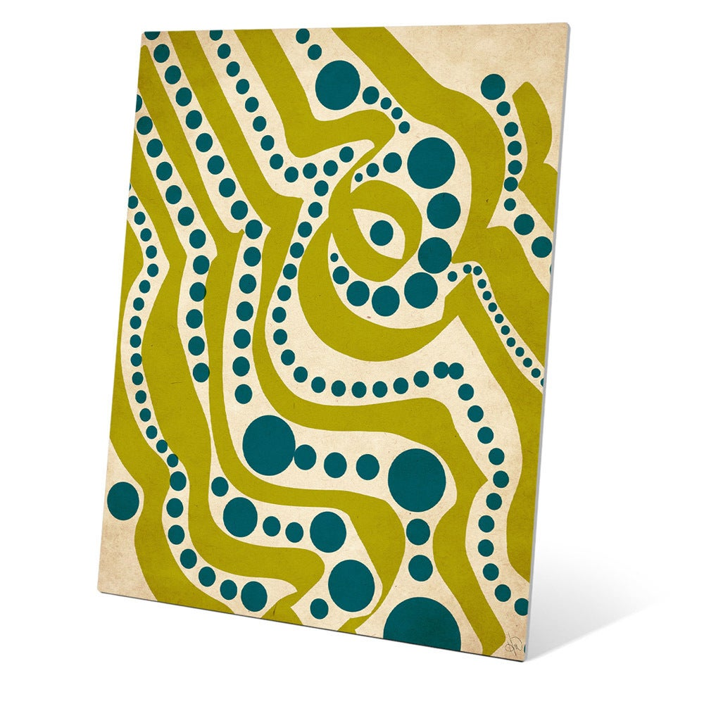 Waves and Seaweed Graphic on Metal Wall Art - Free Shipping Today ...